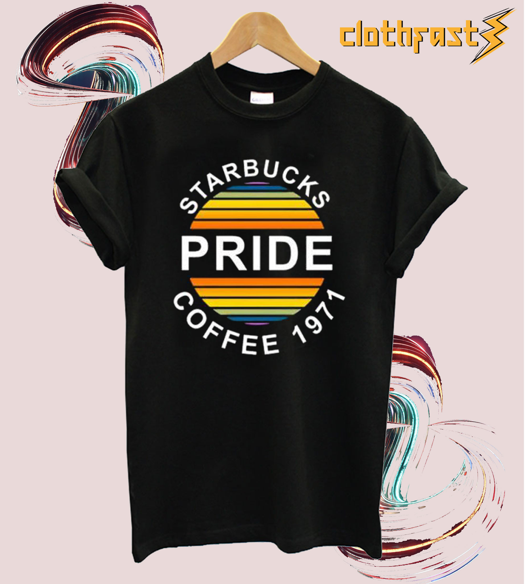 Starbucks Pride Coffe 1971 T-shirt.