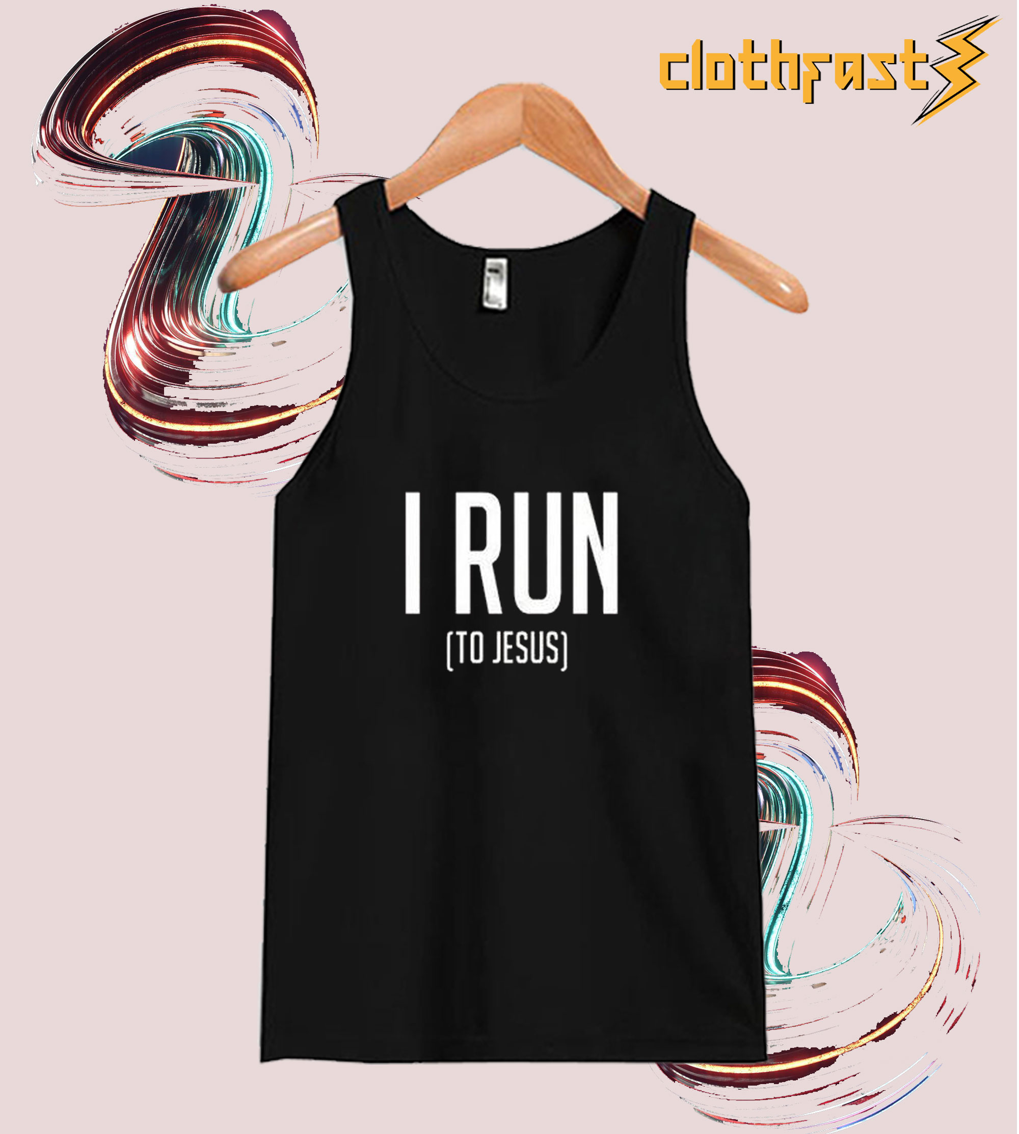 I Run to Jesus Tanktop
