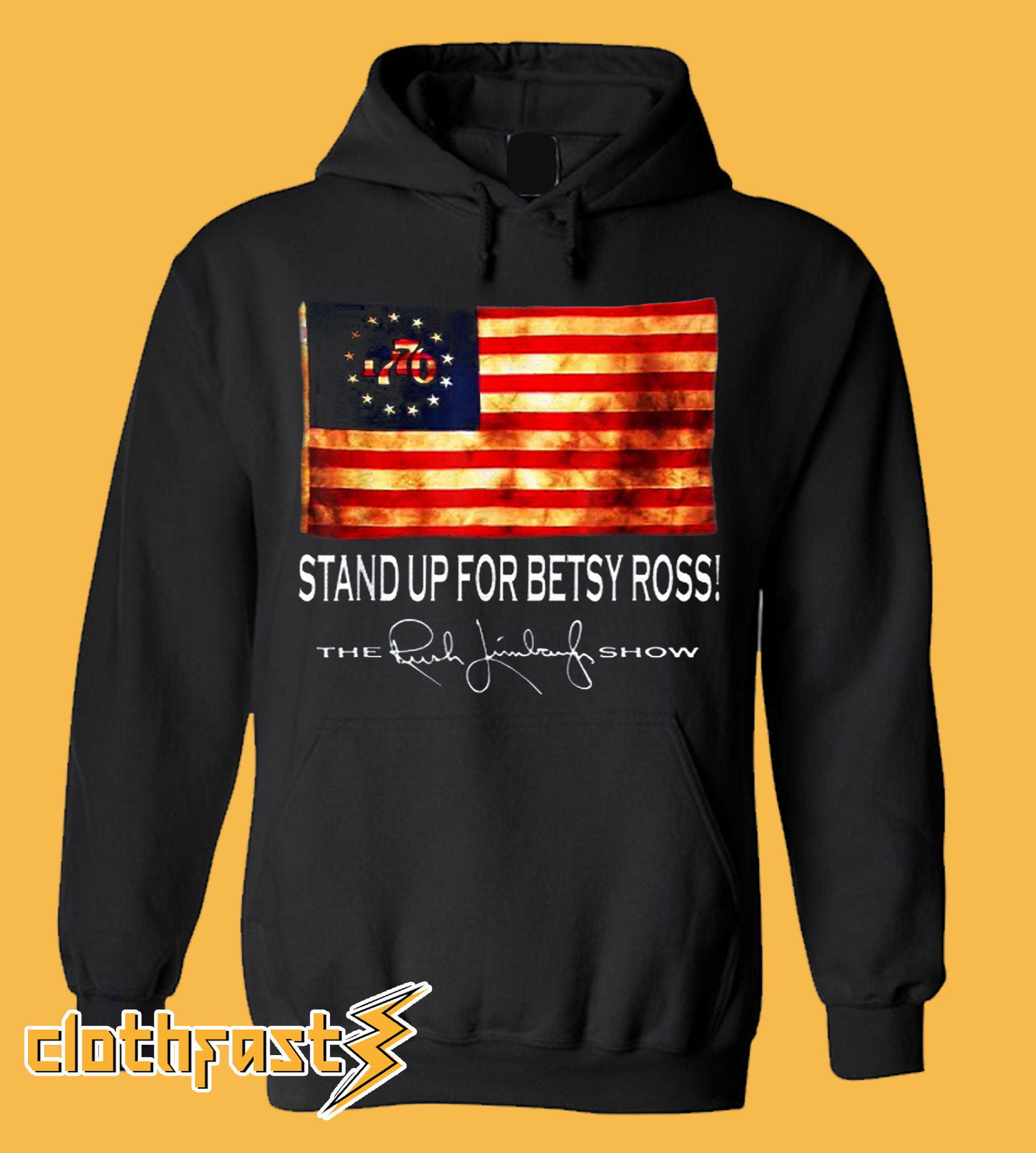 Rush Limbaugh Stand Up For Betsy Ross Flag Classic Hoodie