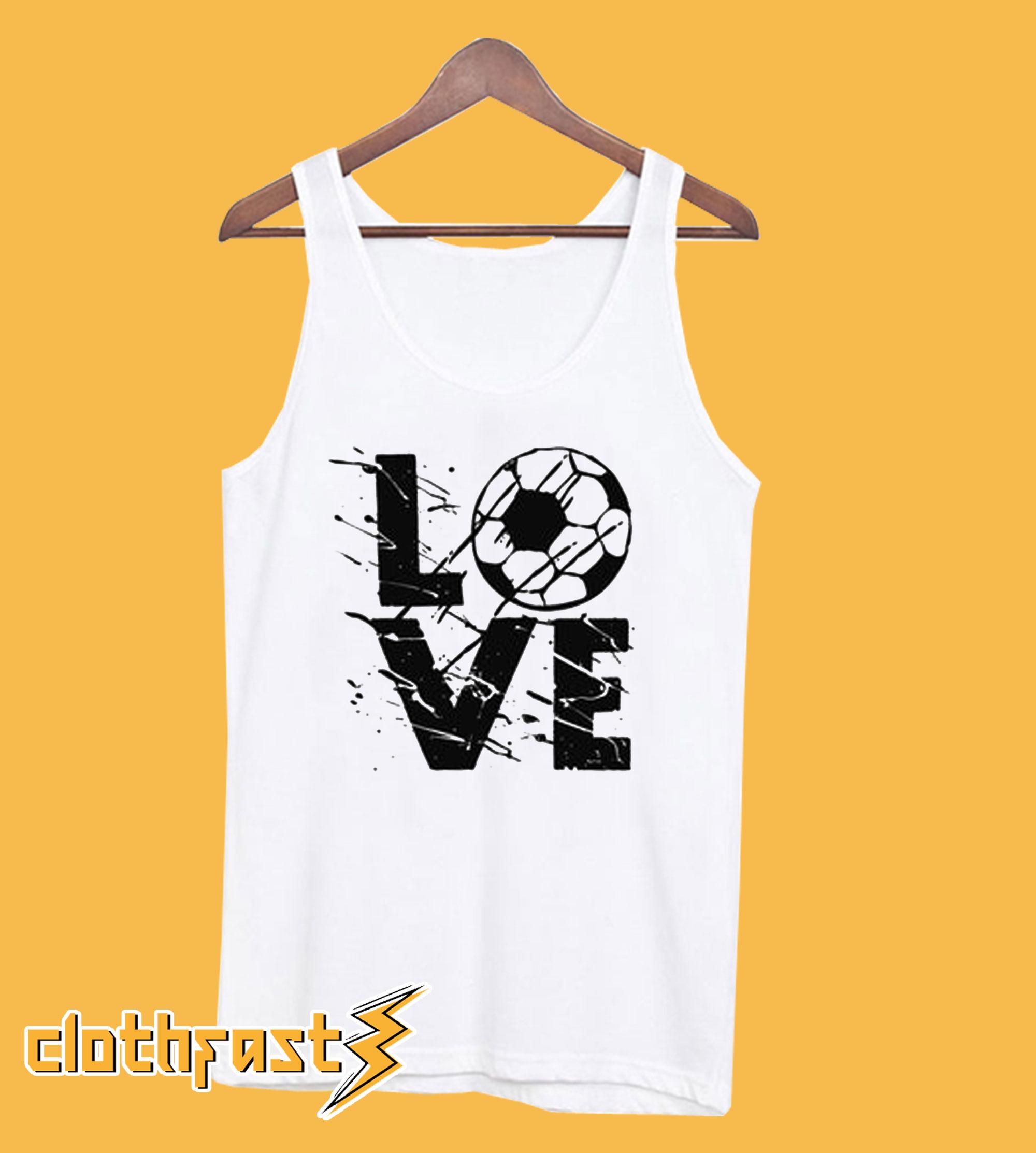 LOVE Soccer Racerback Tanktop