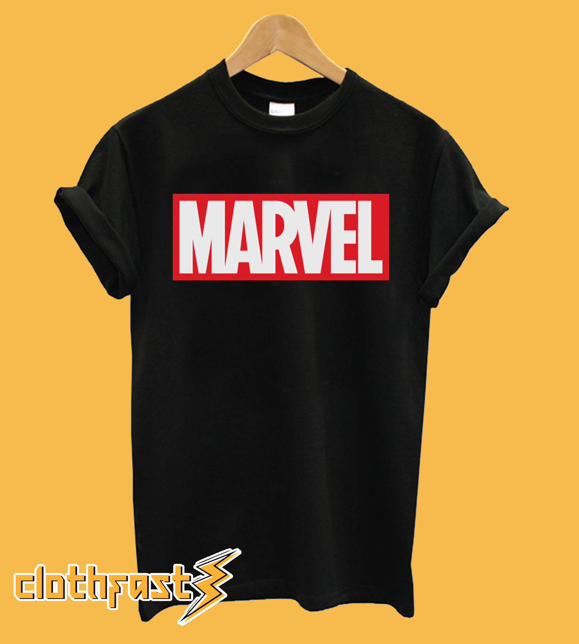 Marvel Main Logo Black T-Shirt