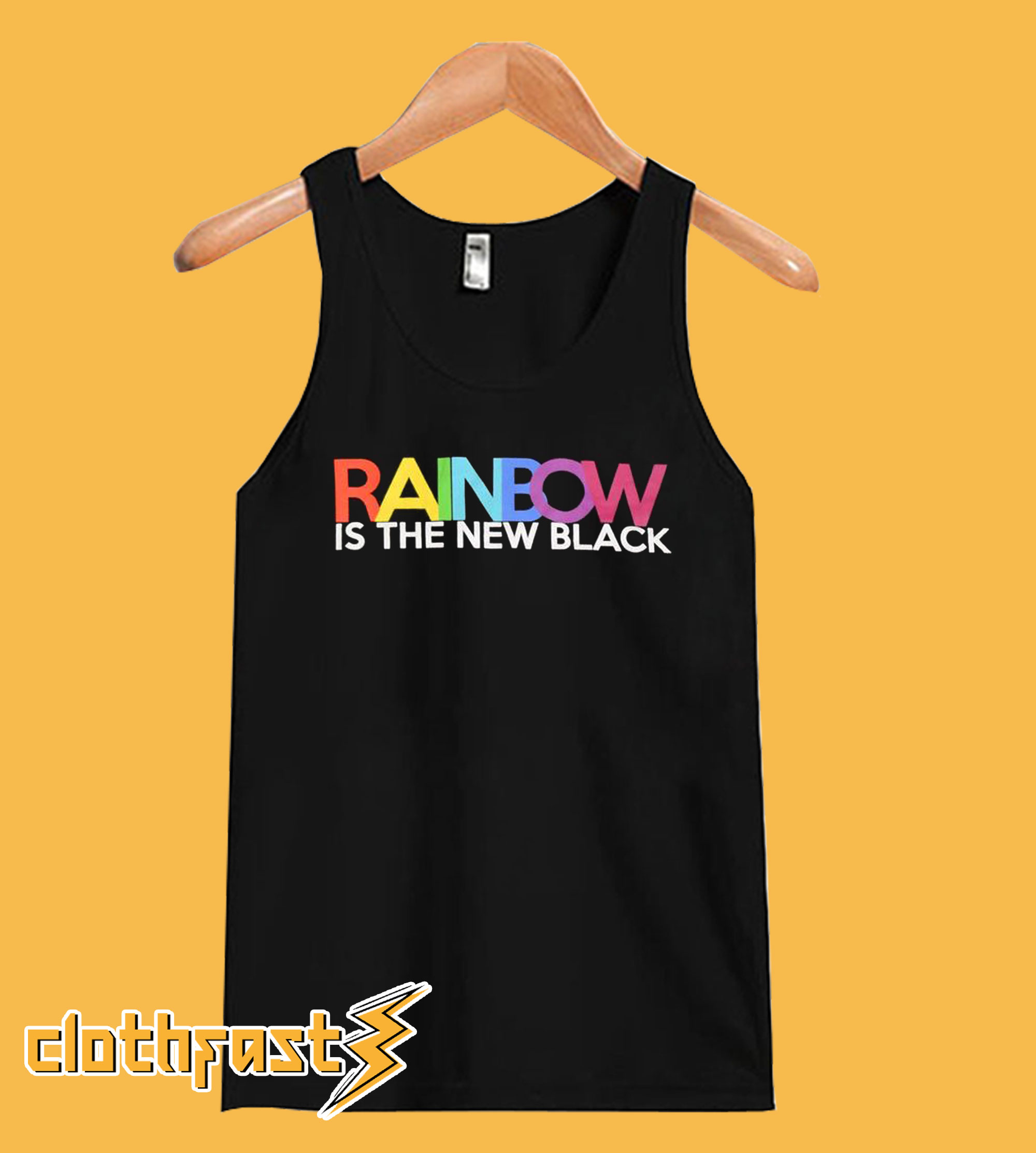 Rainbow Is The New Black Tanktop