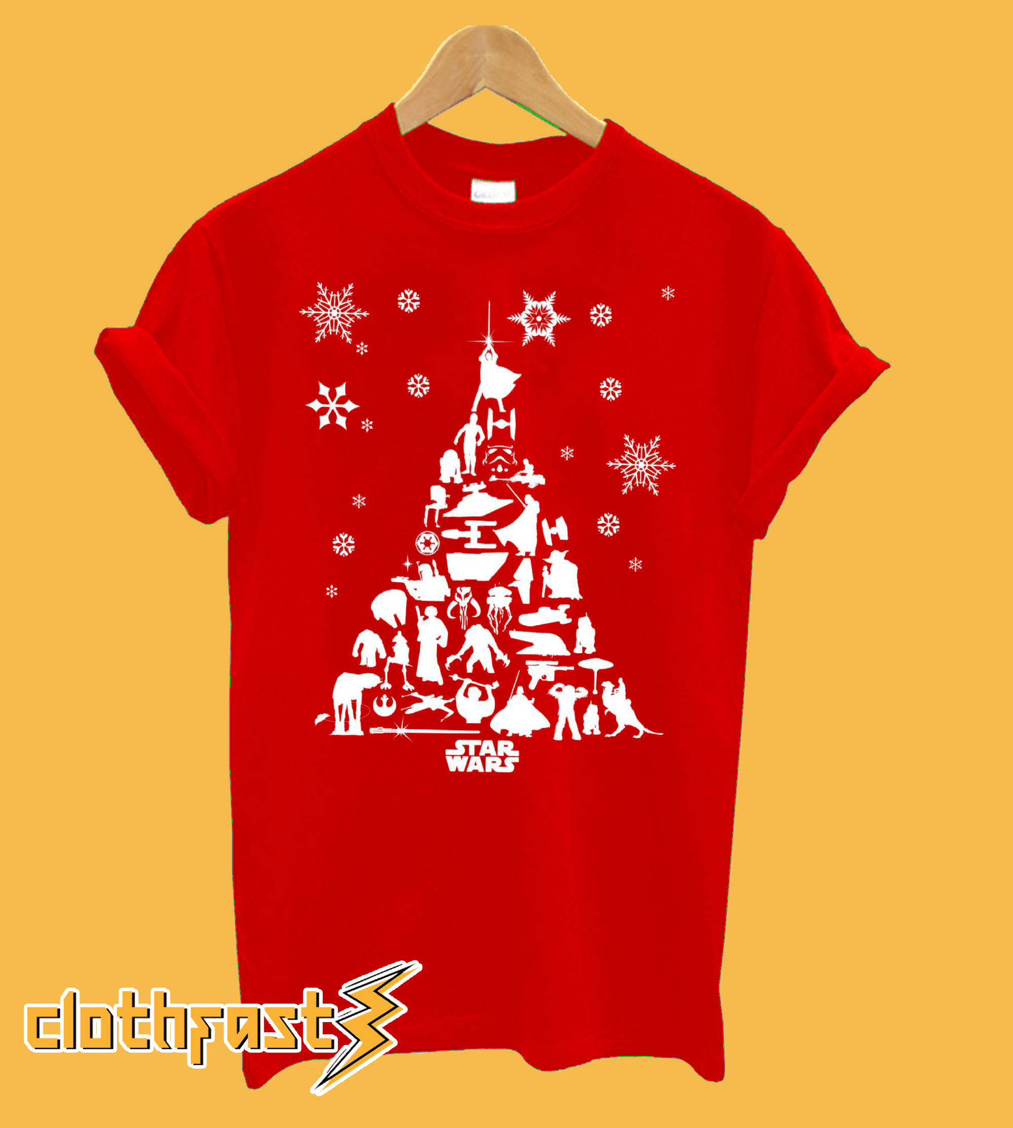 Star Wars Character Christmas T-Shirt