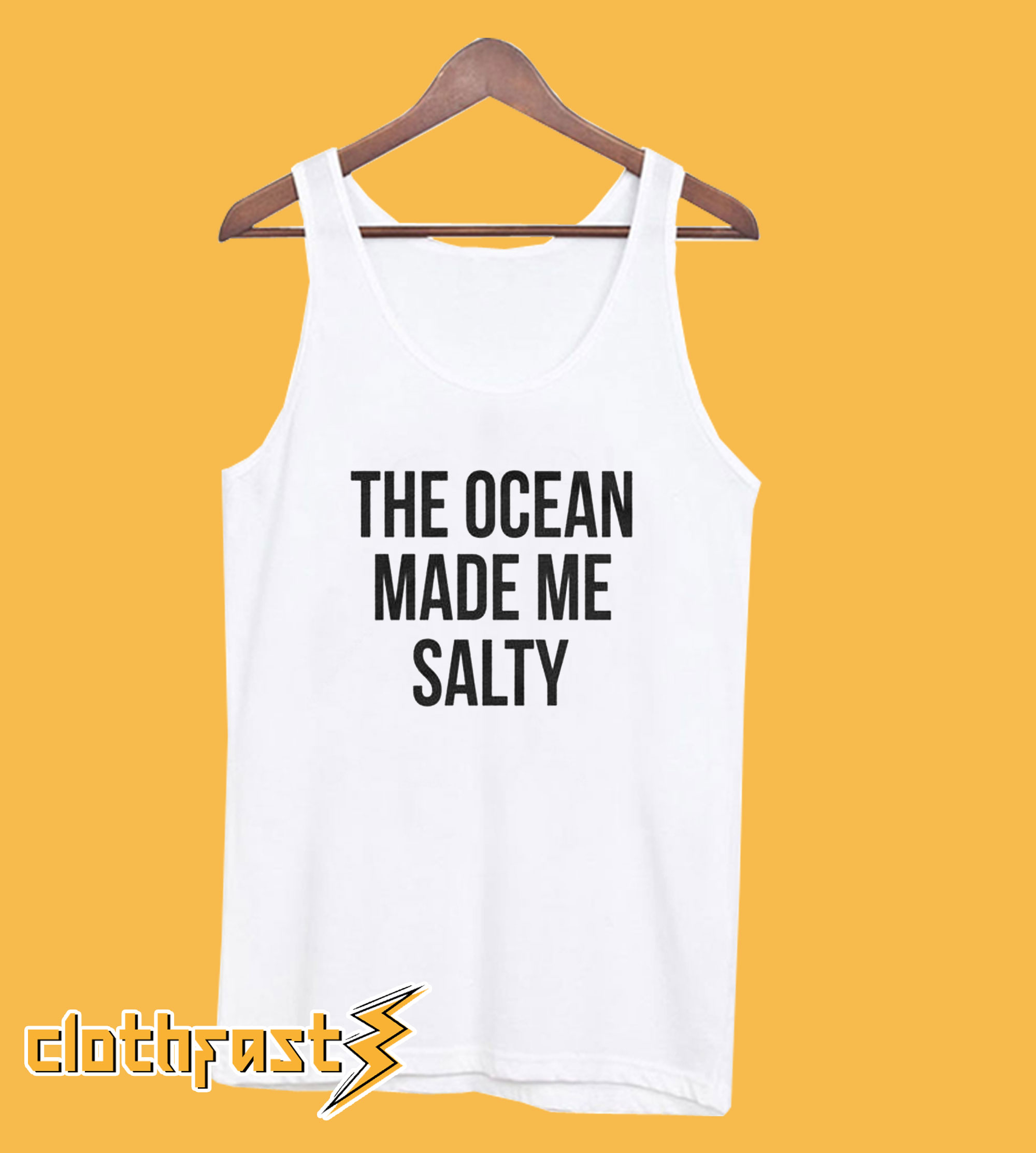 The Ocean Made Me Salty Tanktop