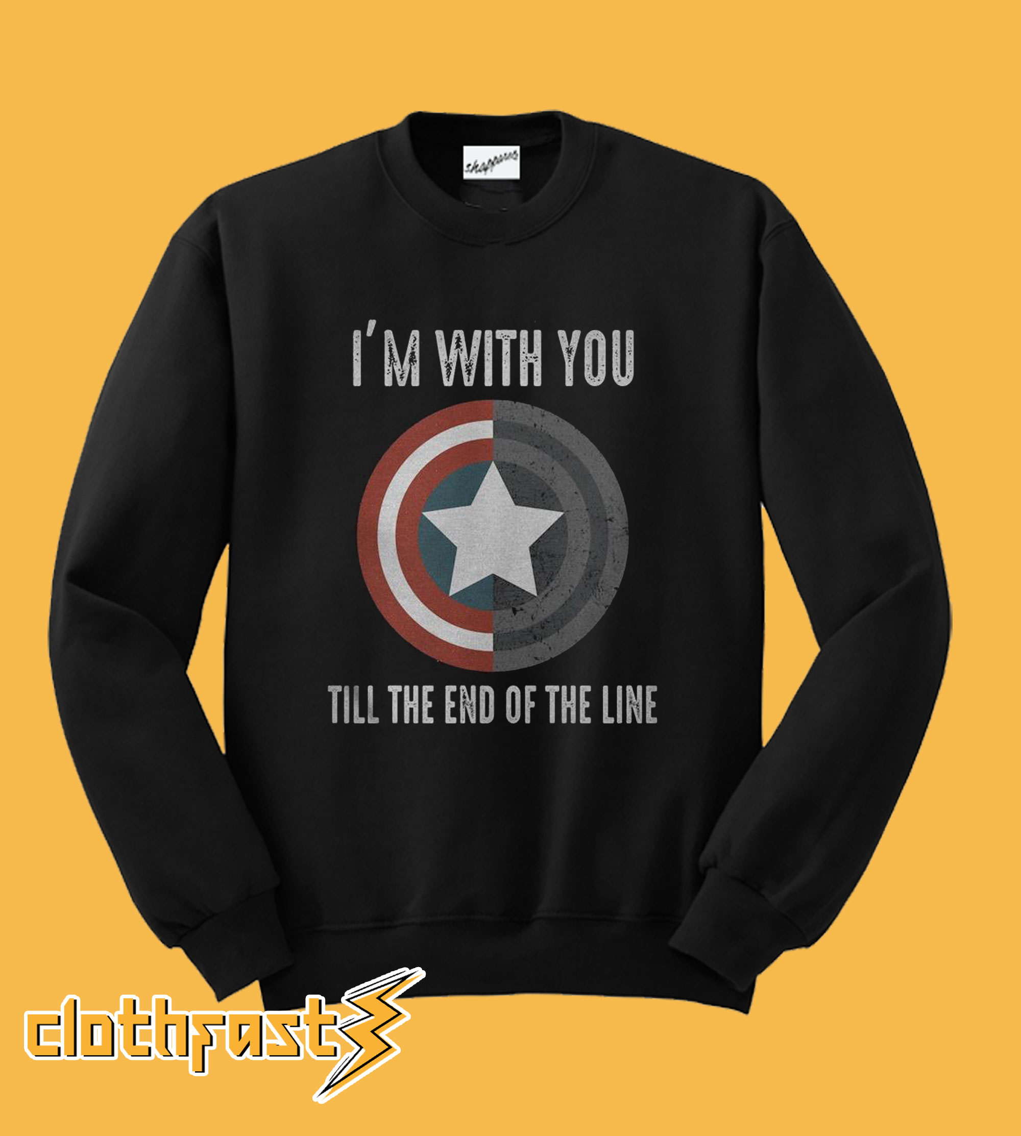 Captain America I'm With You Sweatshirt