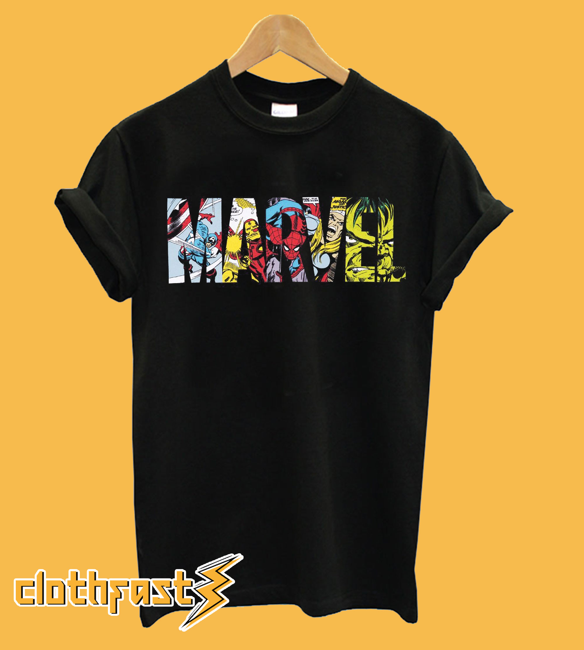 Marvel Comic Strip Logo Unisex T Shirt Unisex Tshirt