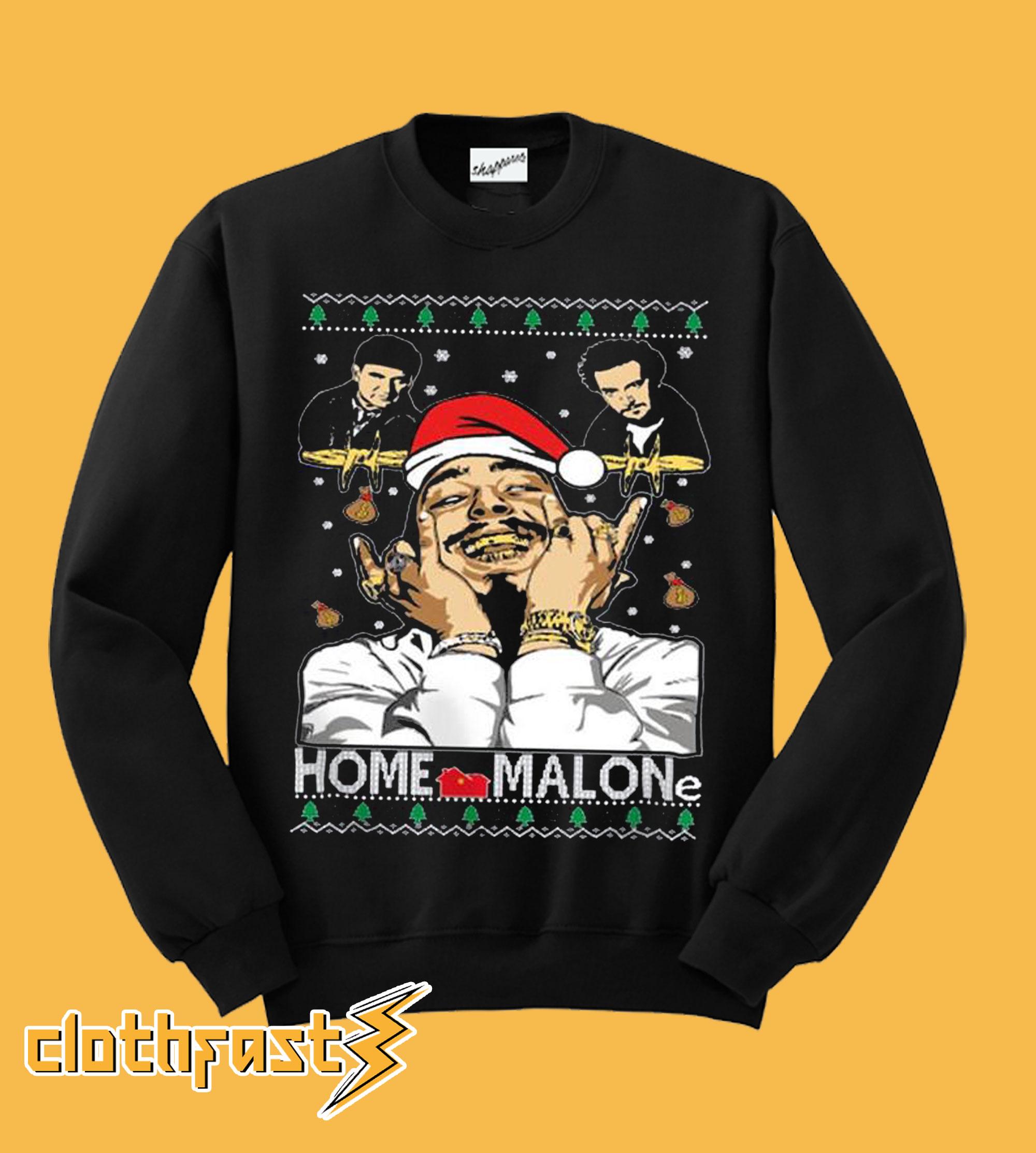 Post Malone ugly Christmas Home Malone Sweatshirt