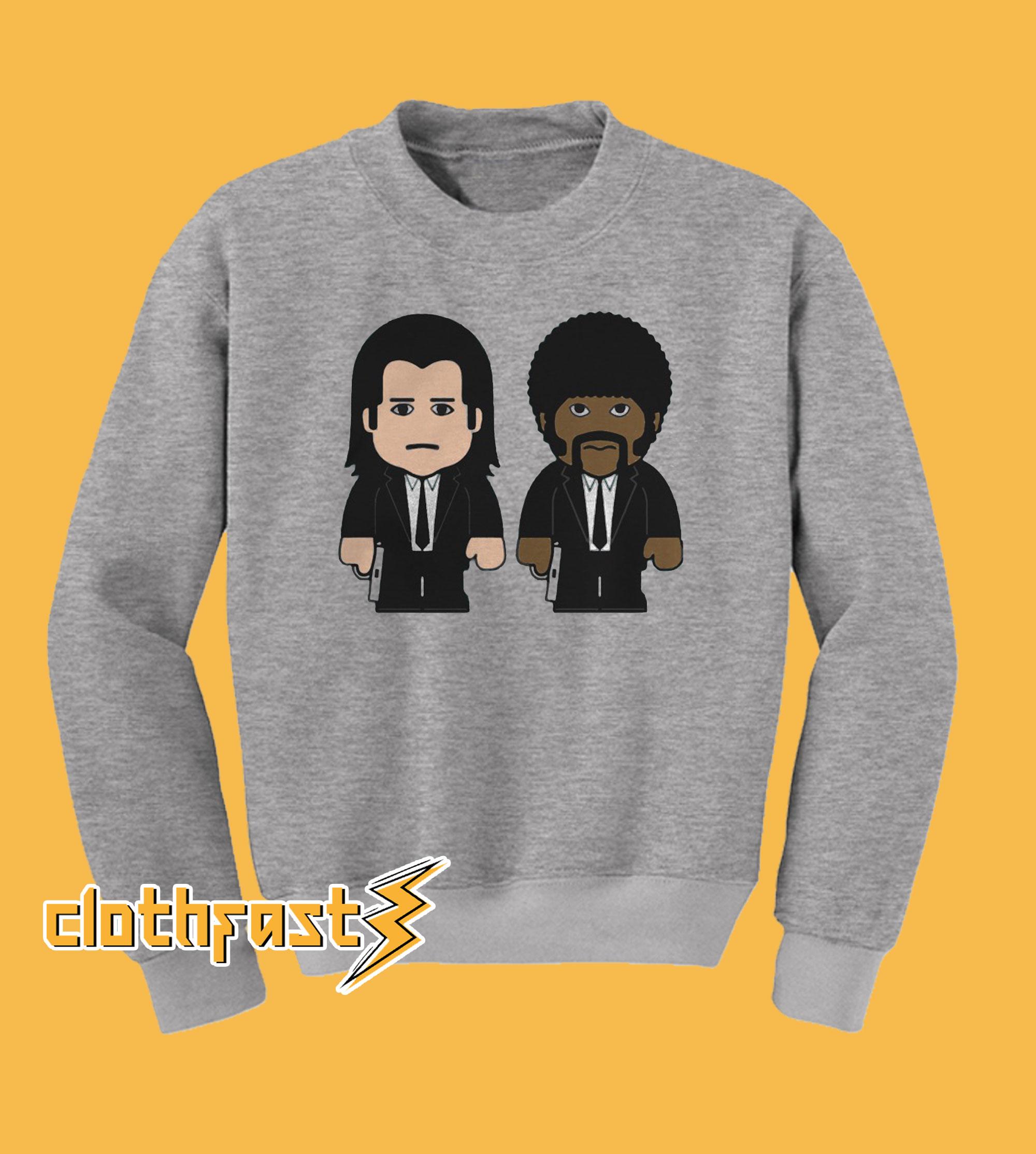 Pulp Fiction Vincent Vega Jules Winnfield Cartoon Sweatshirt