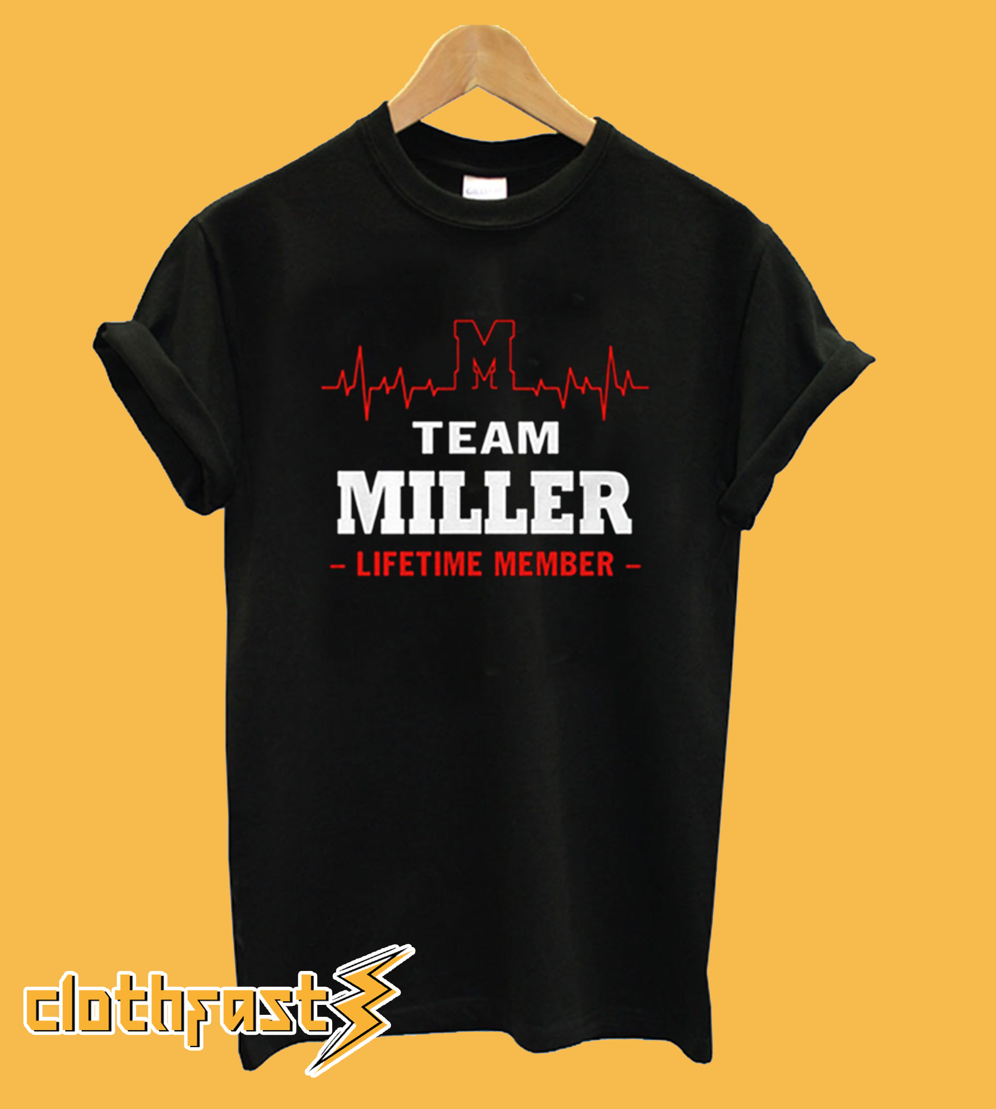 Team miller lifetime member T-shirt