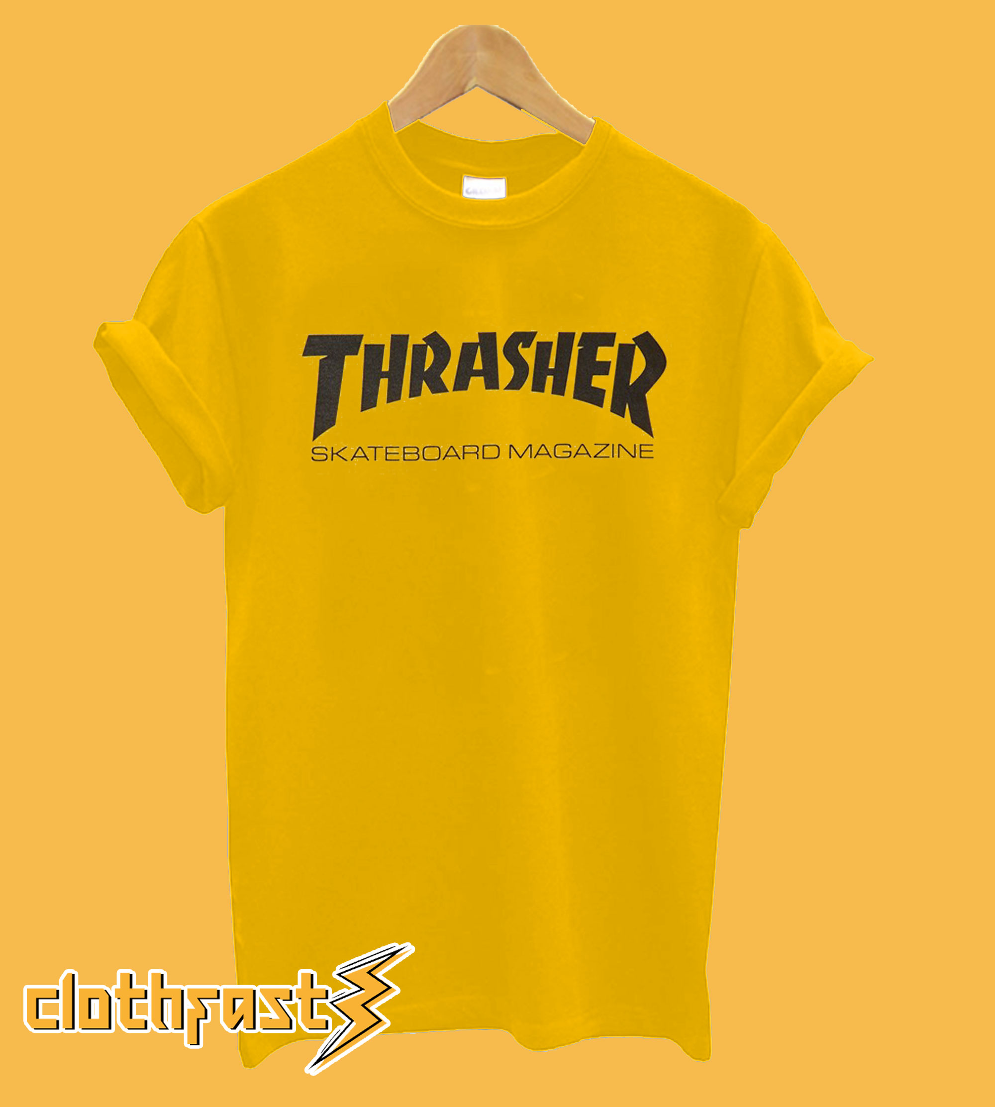 Thrasher yellow T-shirt