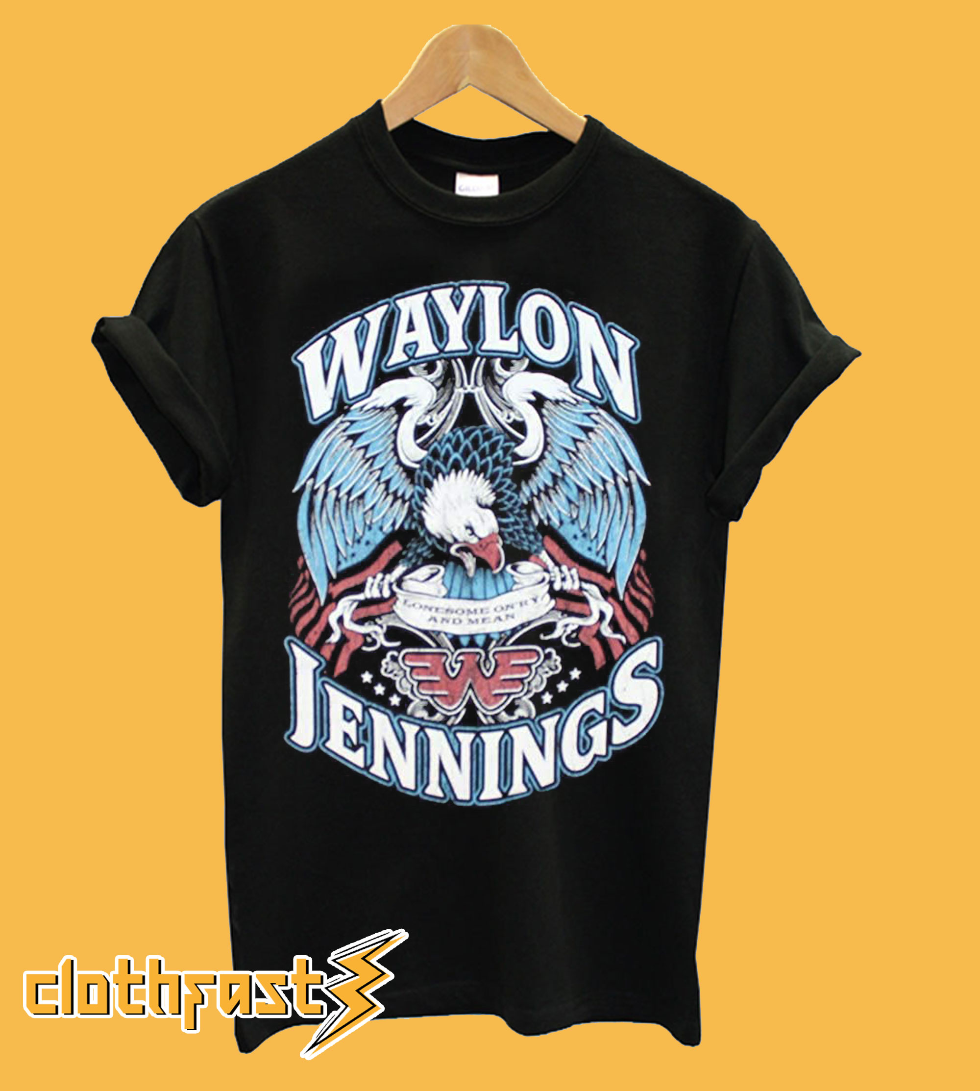 Waylon Jennings Logo T Shirt