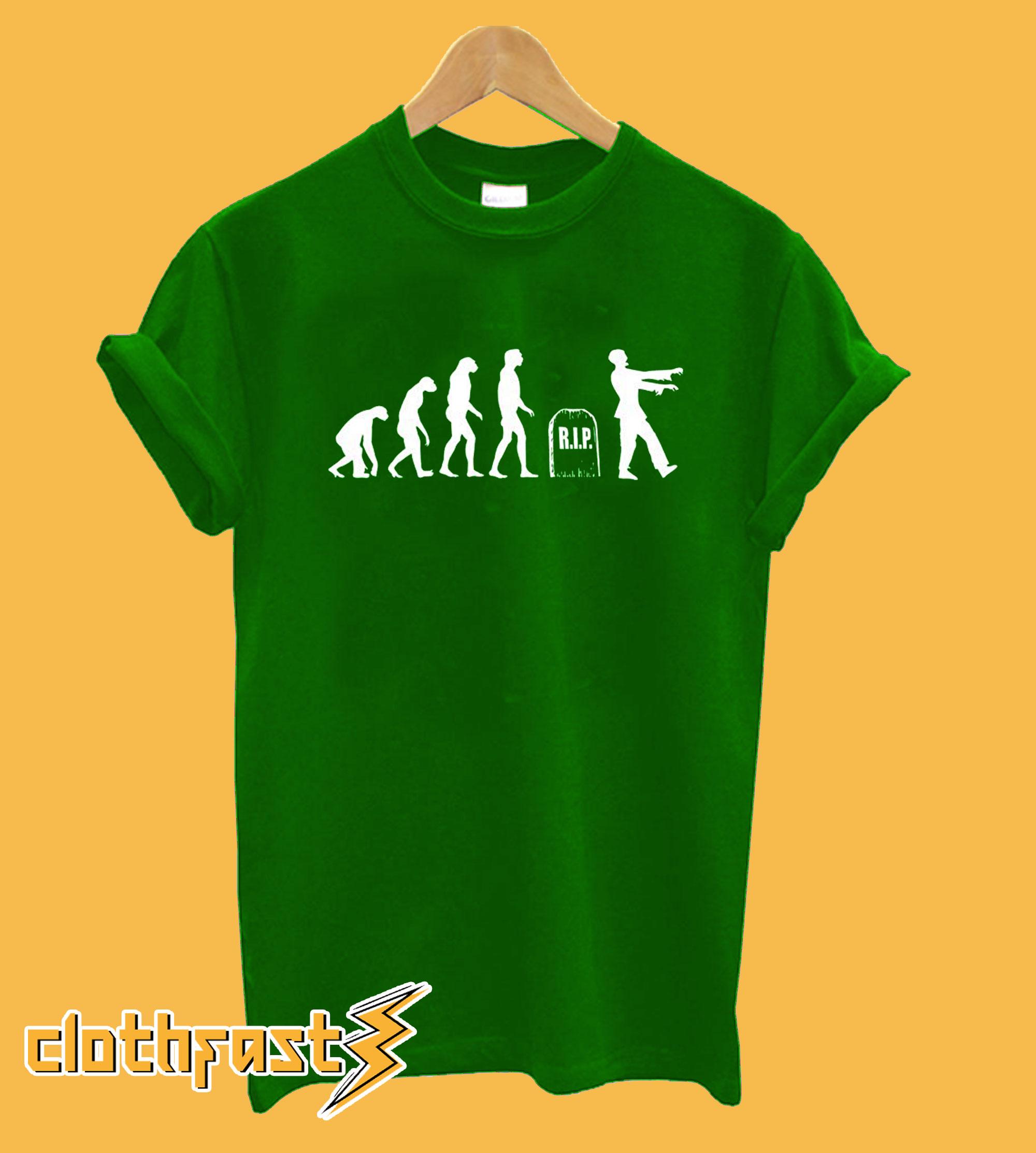 Zombie Evolution Monkey Death Reborn Undead Brain Eaters T-shirt