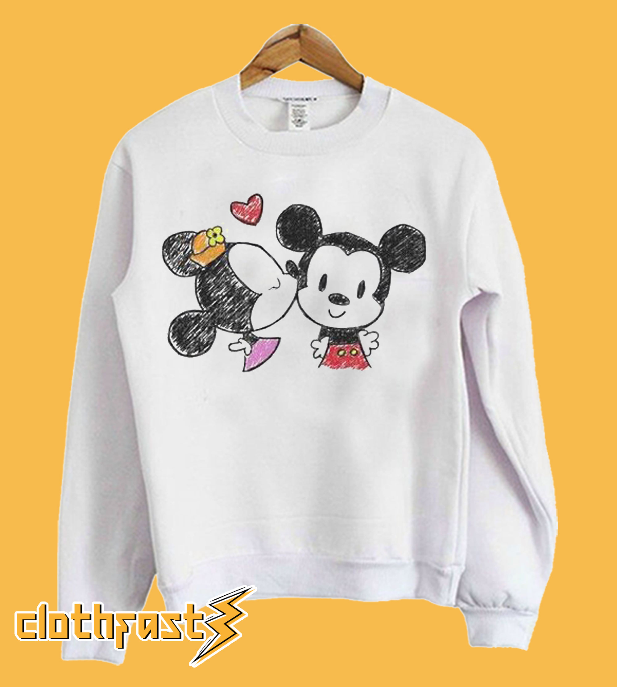 Kawaii Clothes With Mouse Sweatshirt