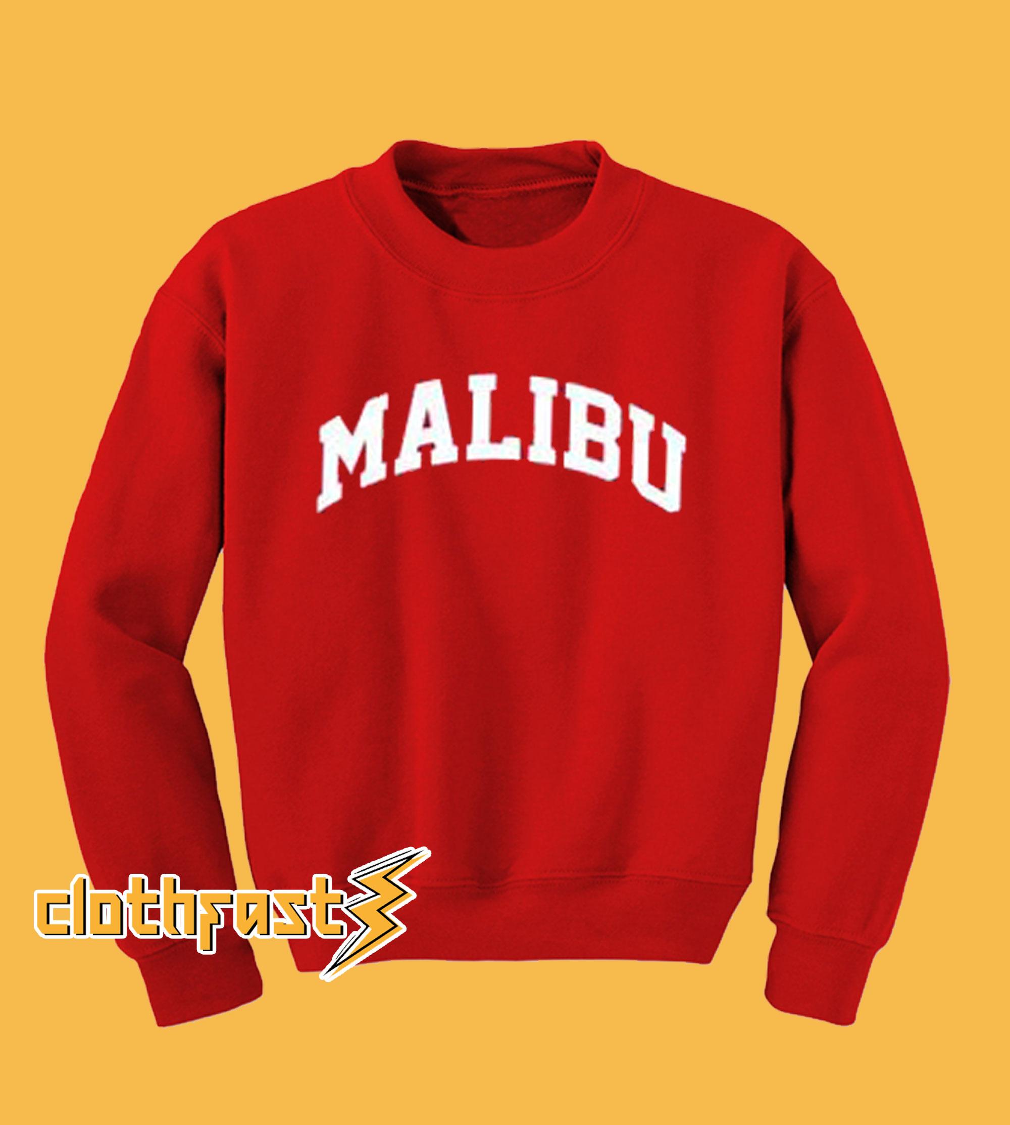 Malibu Red Sweatshirt