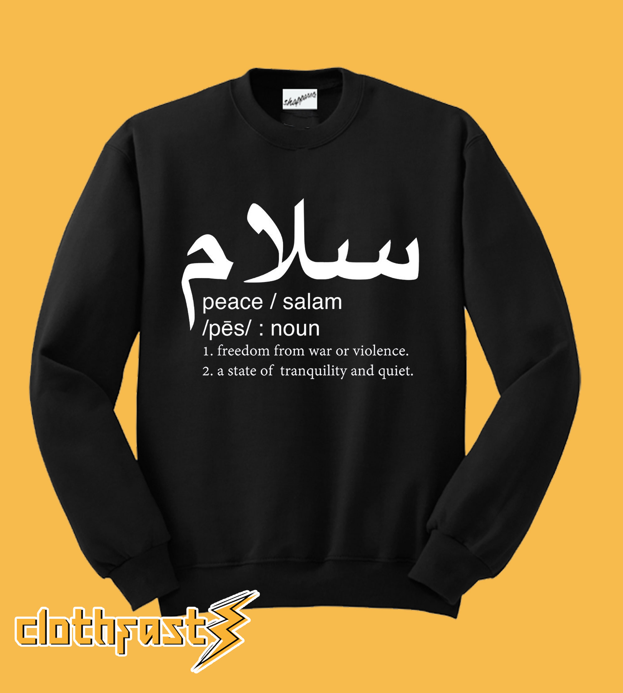 Peace Definition Crewneck Sweatshirt