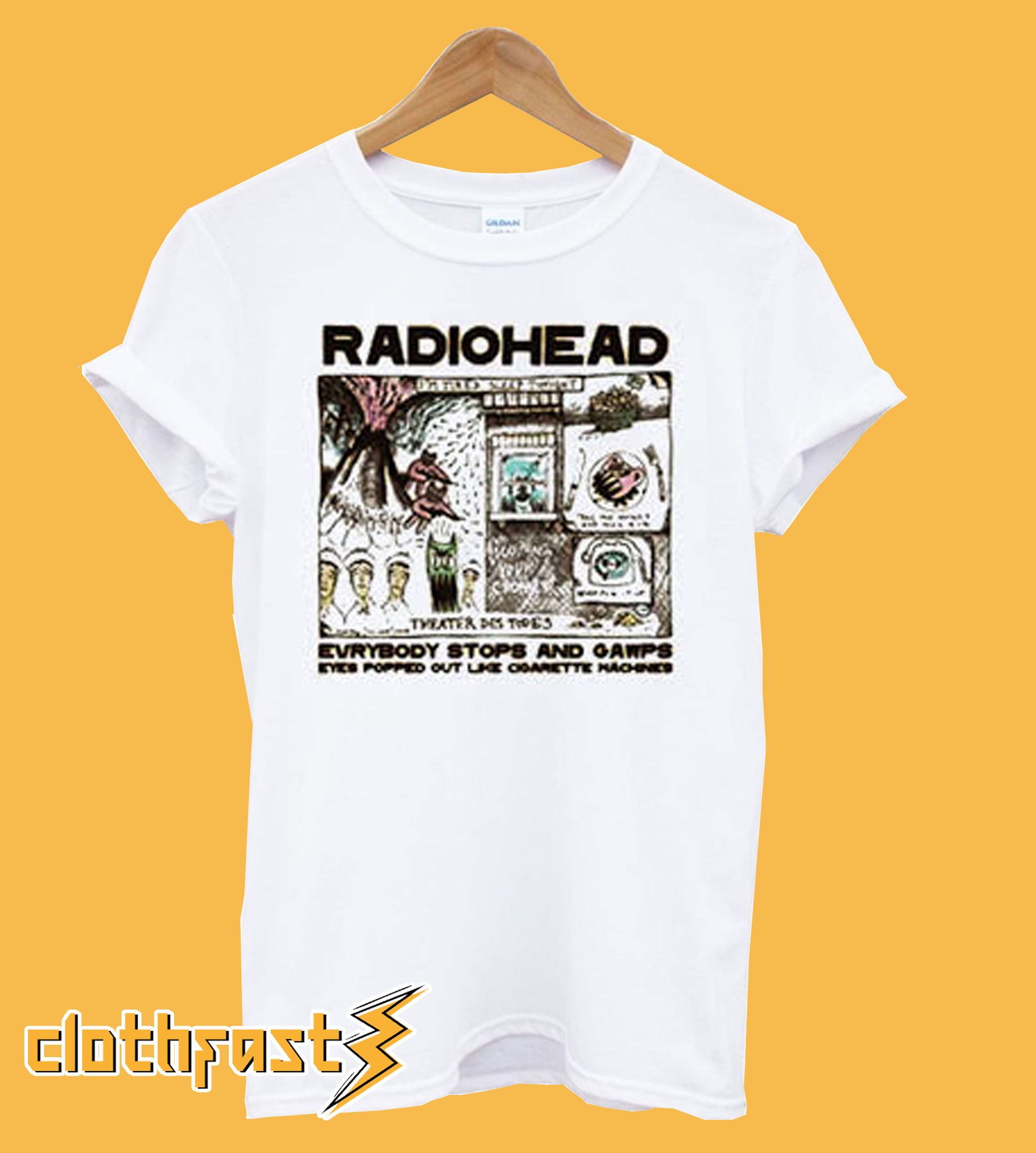 Radiohead Color In Drawing T-Shirt