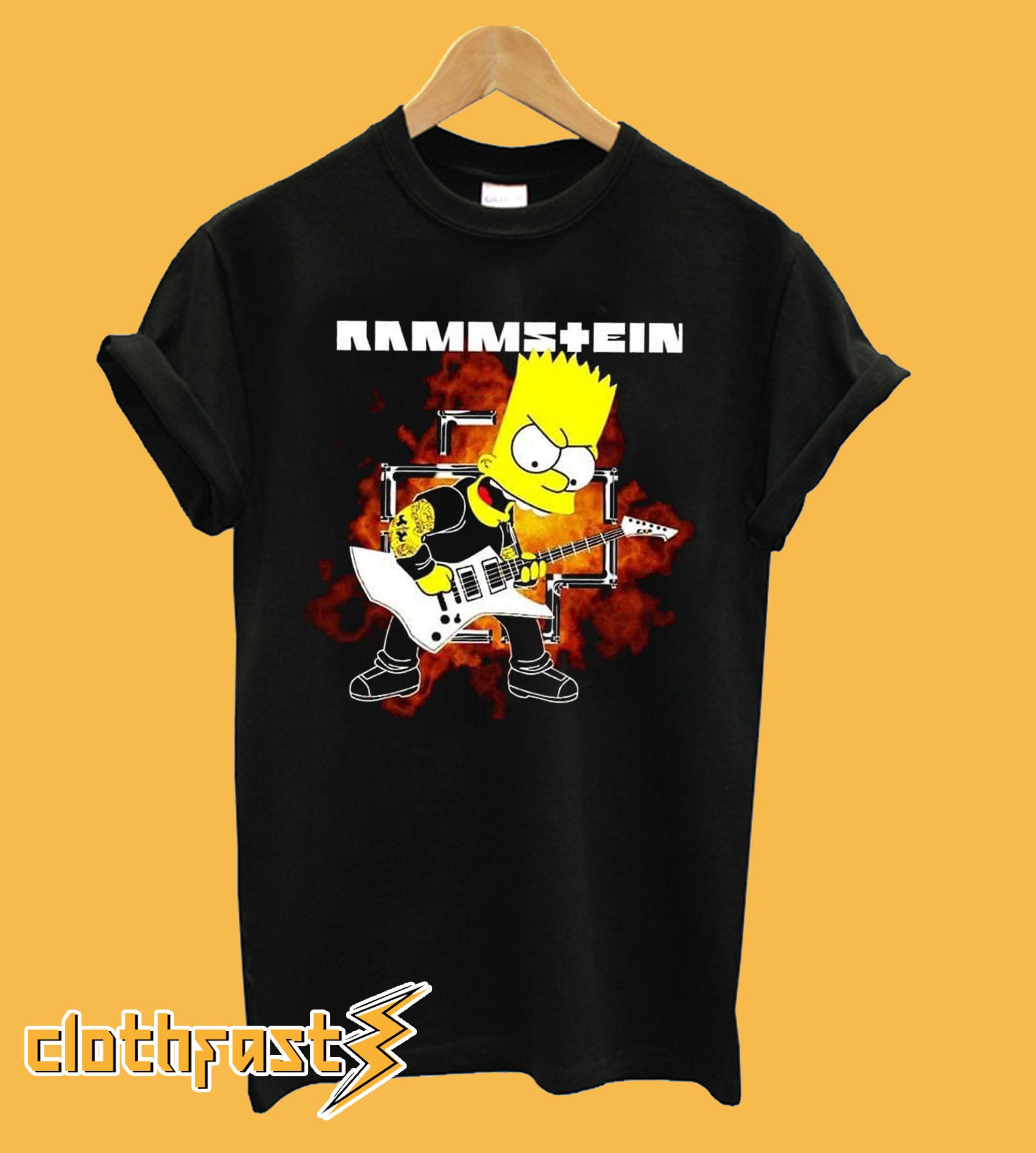 Rammstein Homer Simpson Playing Bass T-shirt