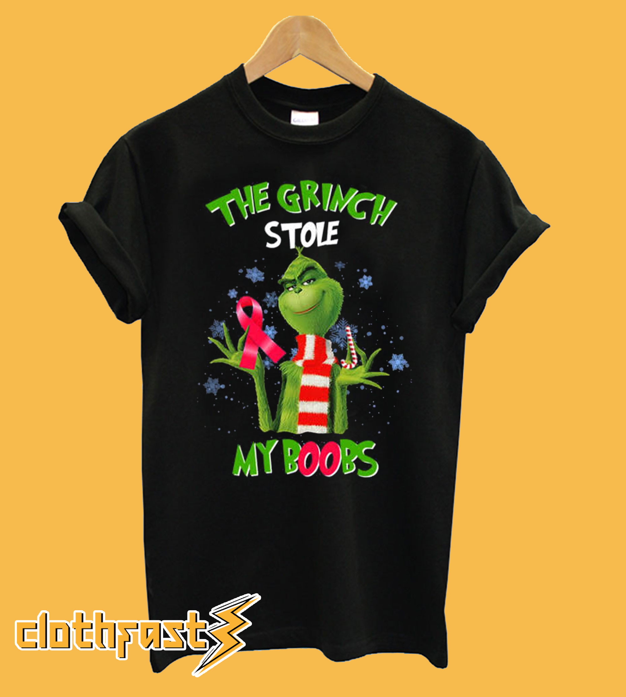 The Grinch stole my boobs T shirt