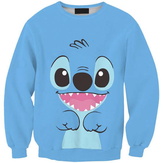 Cute Classic Cartoon Lilo And Stitch Character 3D Sweatshirt