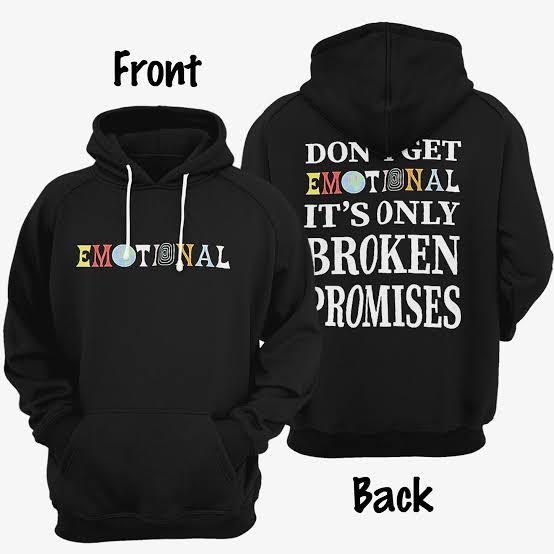 Broken Promises Emotional Hoodie Front Back
