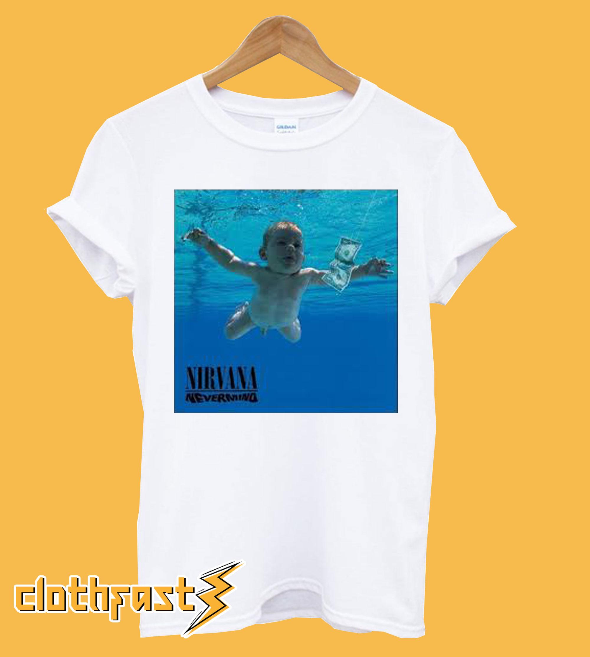 nirvana nevermind tshirt