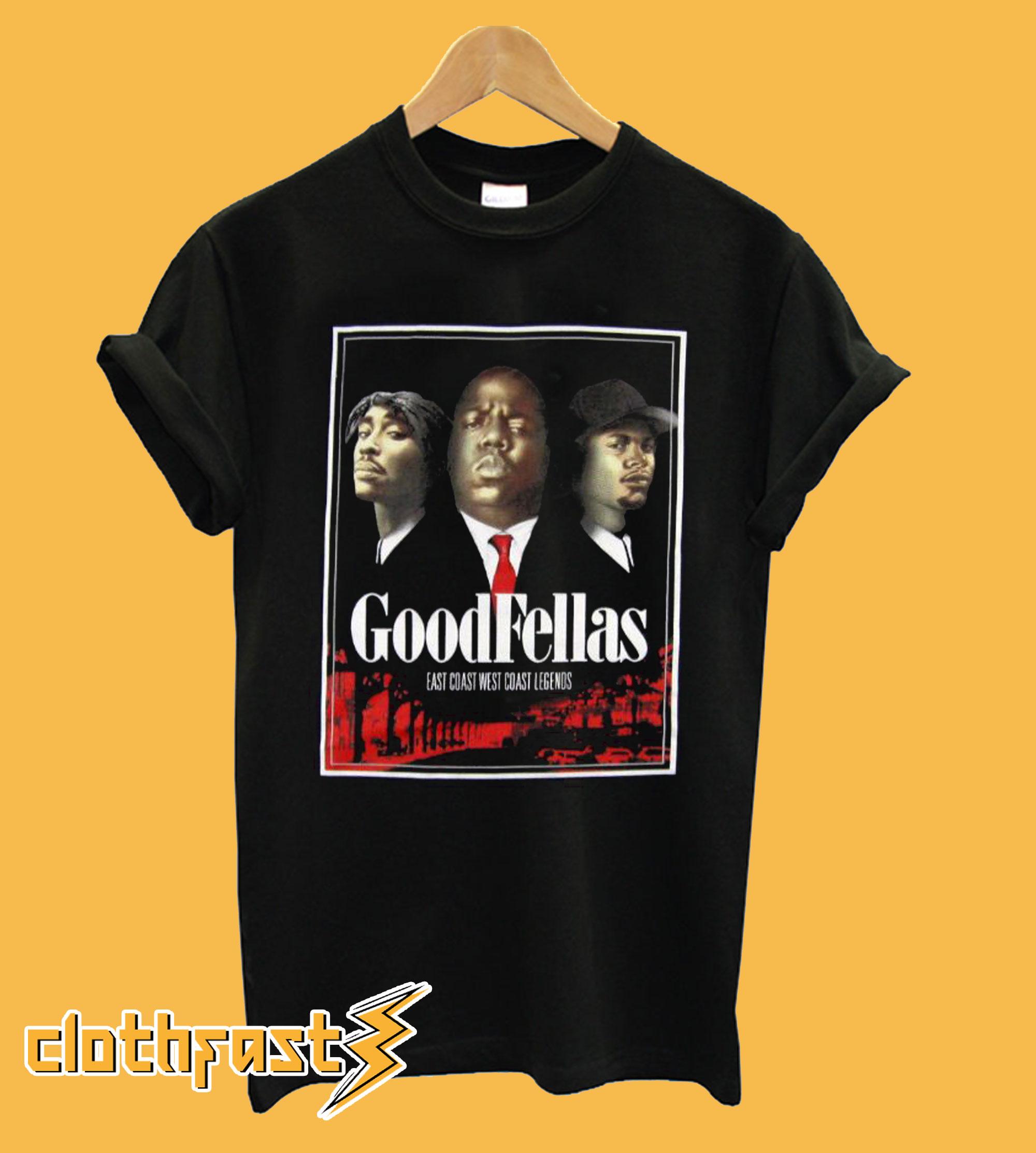 3Forty Inc. Mens Tupac Biggie Eazy-E Goodfellas T shirt