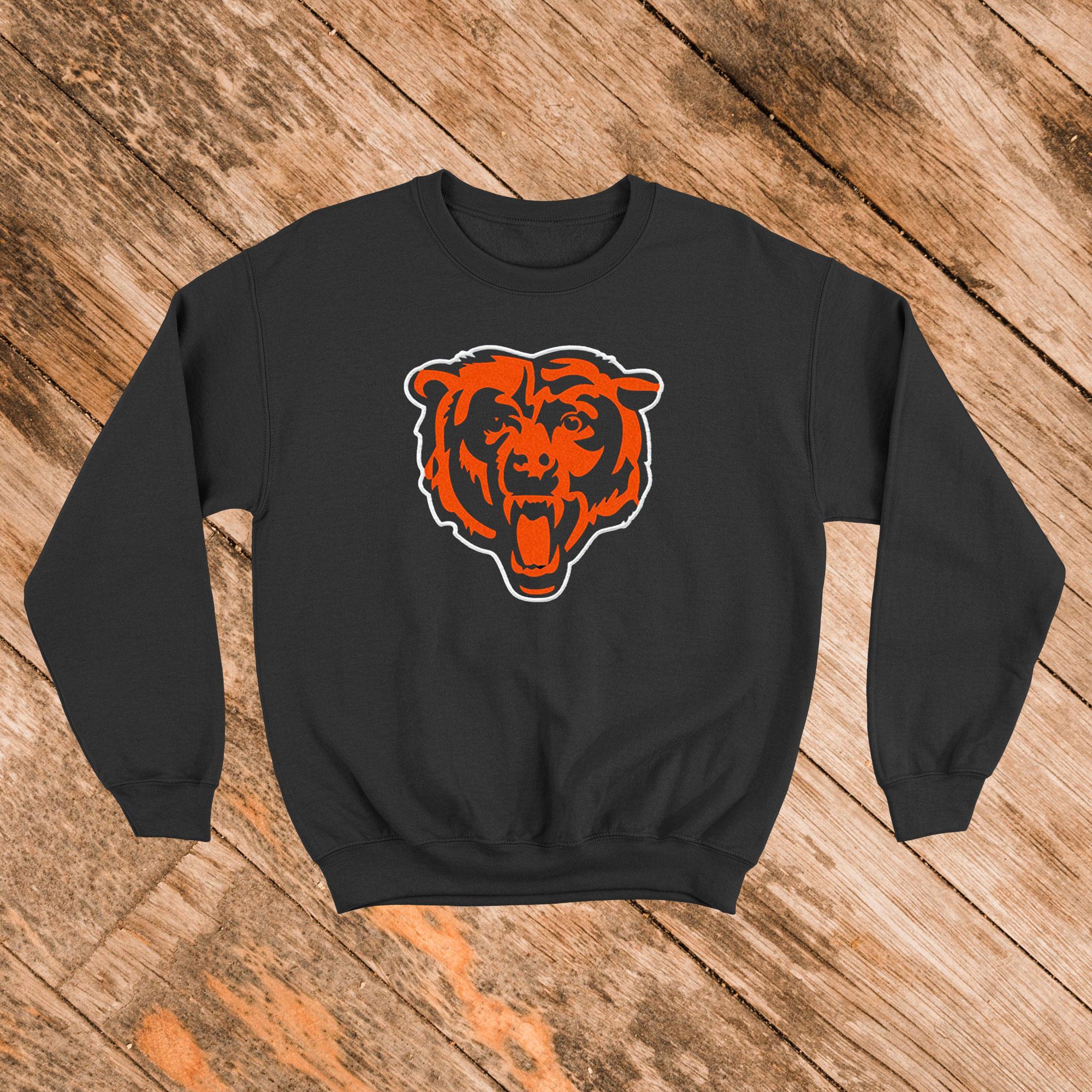 Chicago Bears Boys Navy Blue Status Long Sleeve Sweatshirt