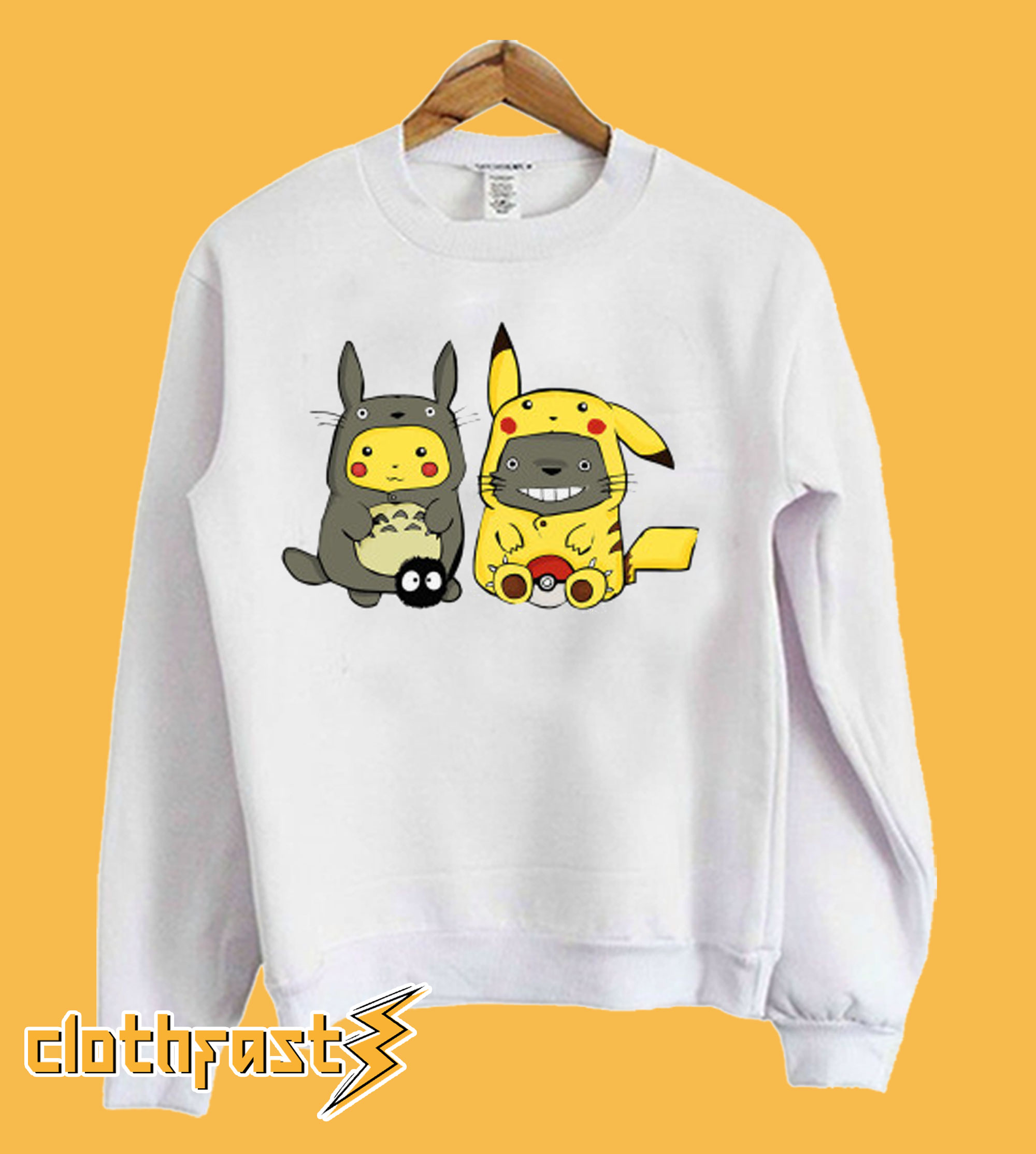 Funny Totoro Pikachu Sweatshirt