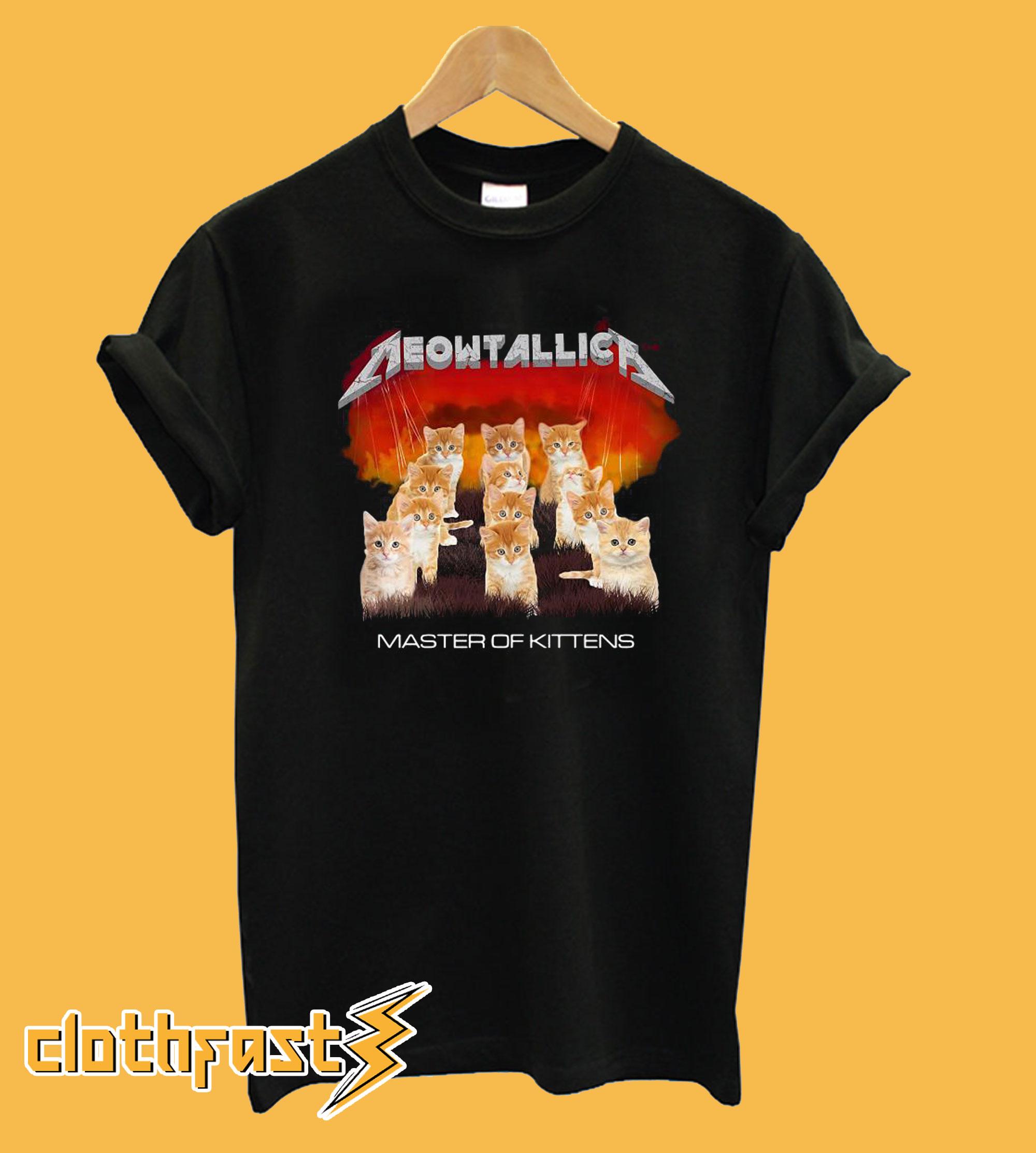 Meowtallica Master of Kittens T-Shirt
