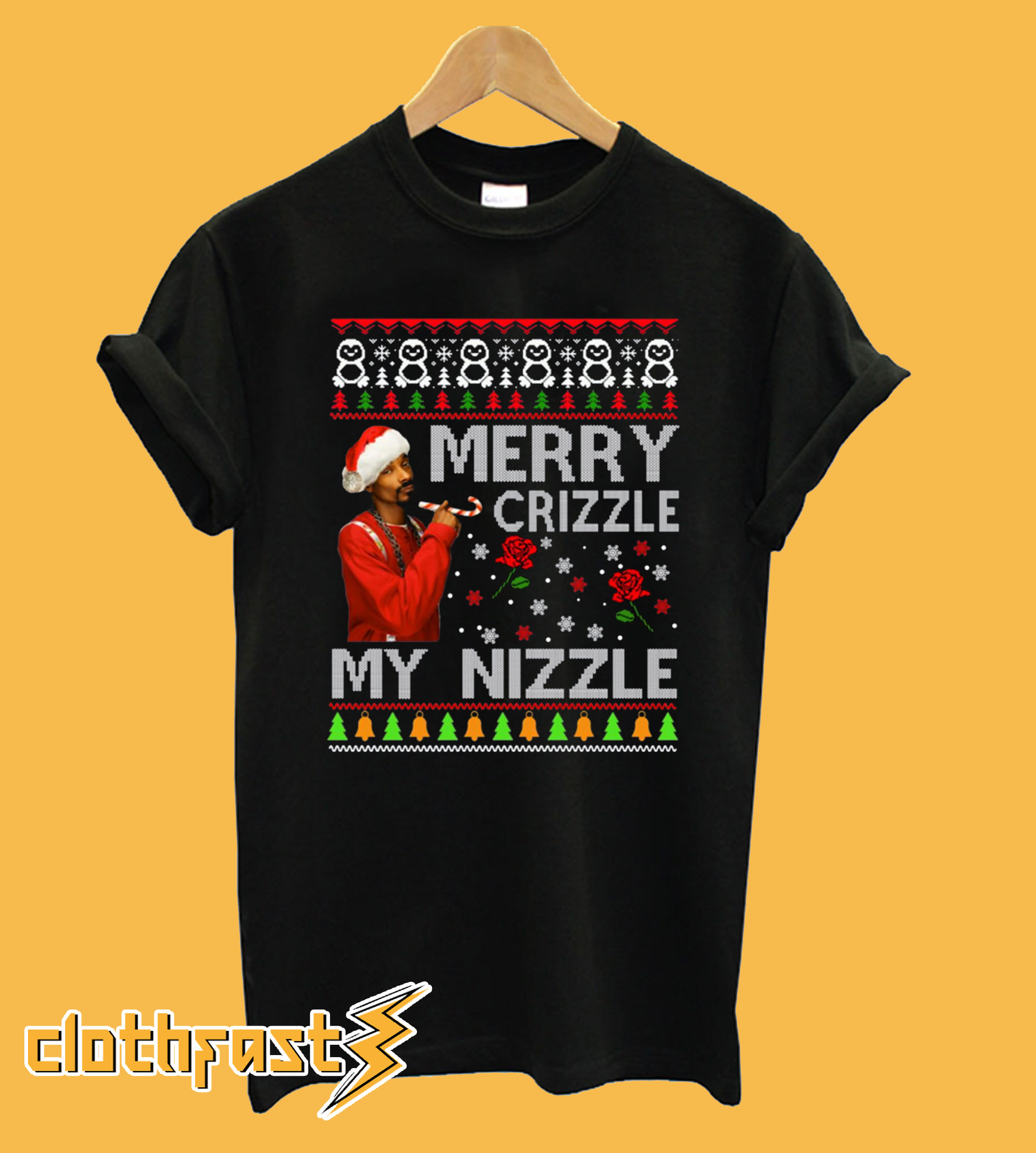 Merry Crizzle Funny Snoop Dogg Christmas T-Shirt