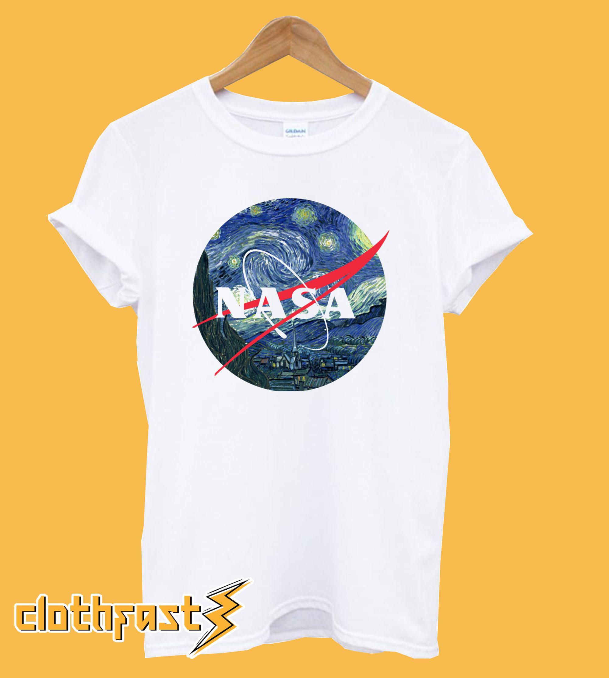 Nasa Van Gogh T shirt