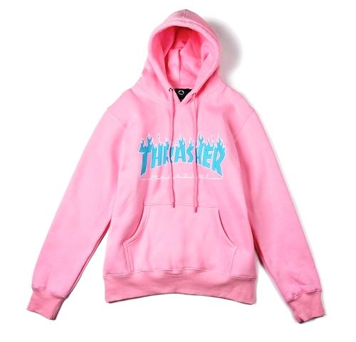 Thrasher Magazine Flame Pink Hoodie