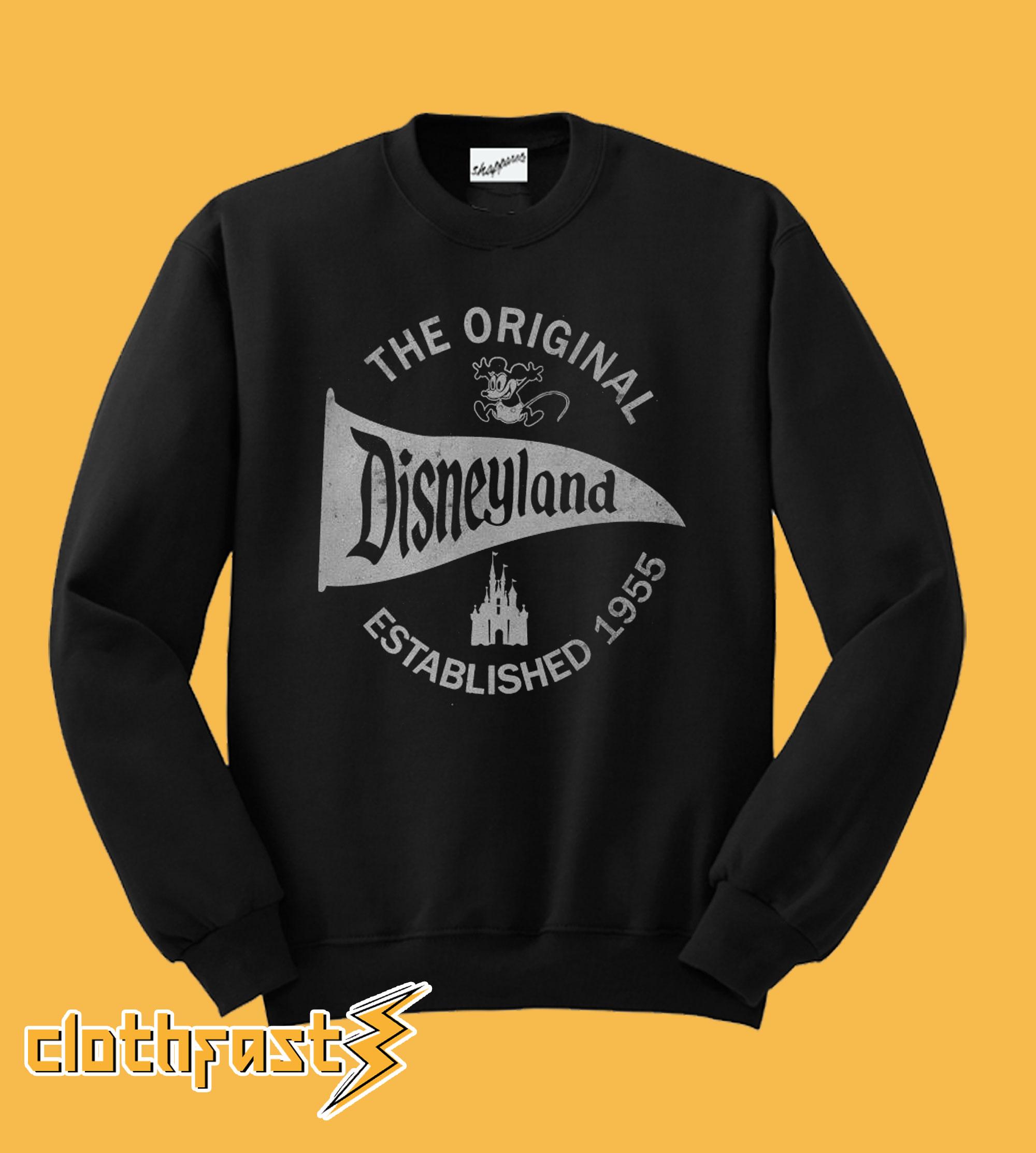 The Original Disneyland Established 1955 SweatshirtThe Original Disneyland Established 1955 Sweatshirt