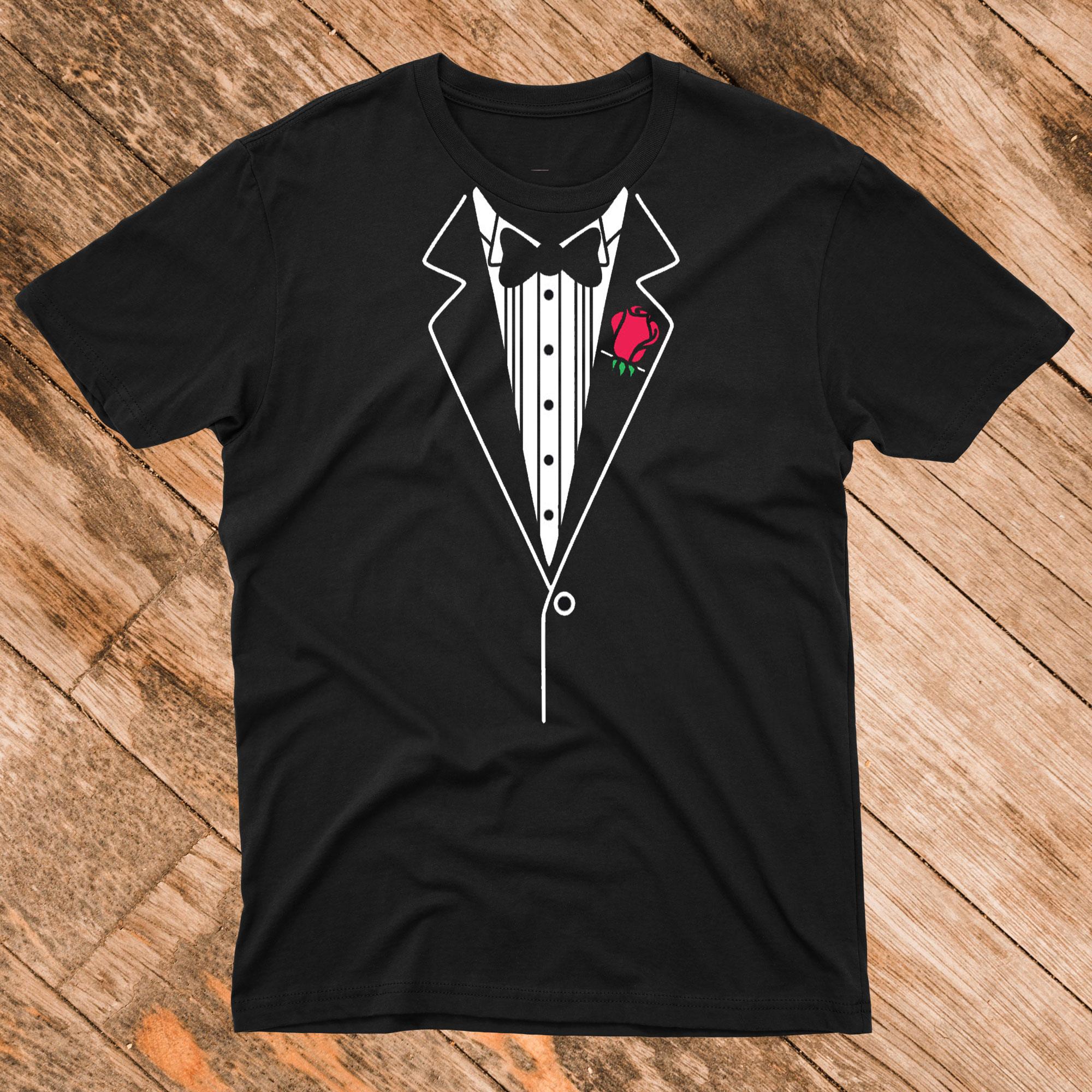 tuxedo t shirt