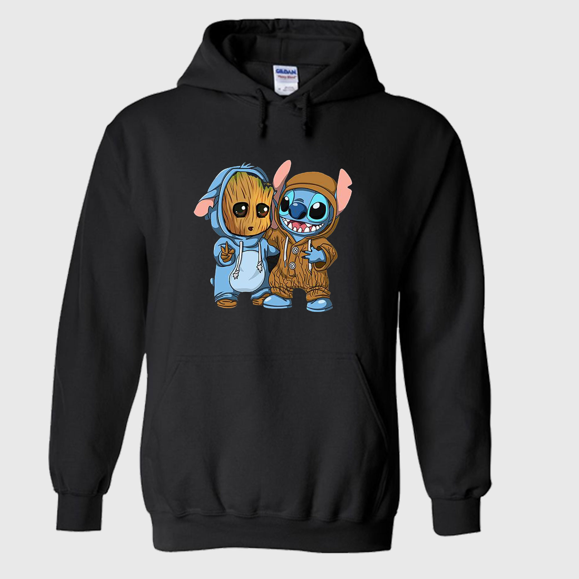 Baby Groot And Baby Stitch Hoodie