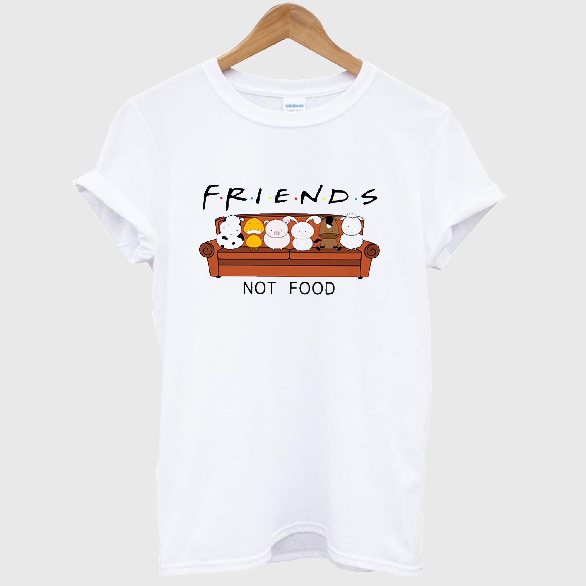 Animal are friends not food T-shirt