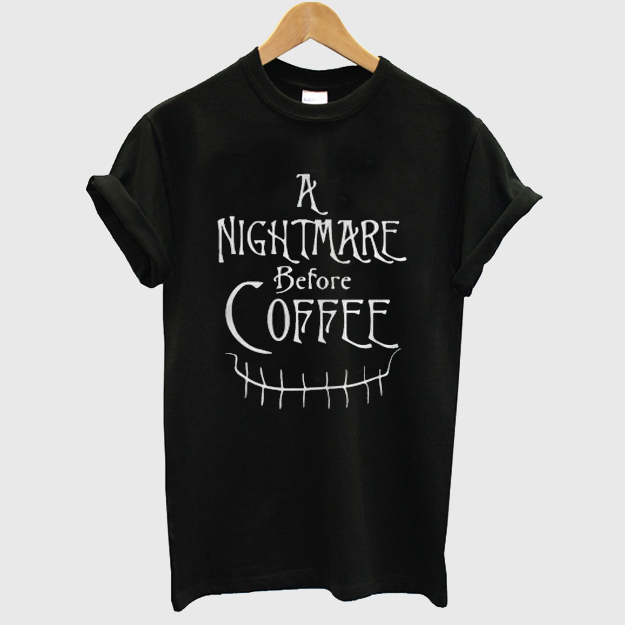 A Nightmare Before Coffee Halloween T-Shirt