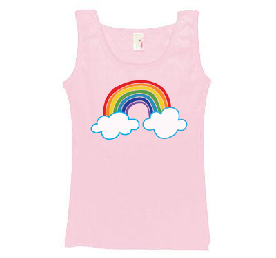 Cloud Rainbow Pink Tanktop