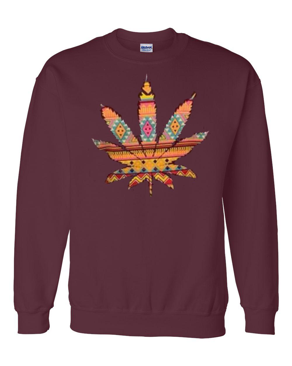 Colorful Weed Maroon Sweatshirt