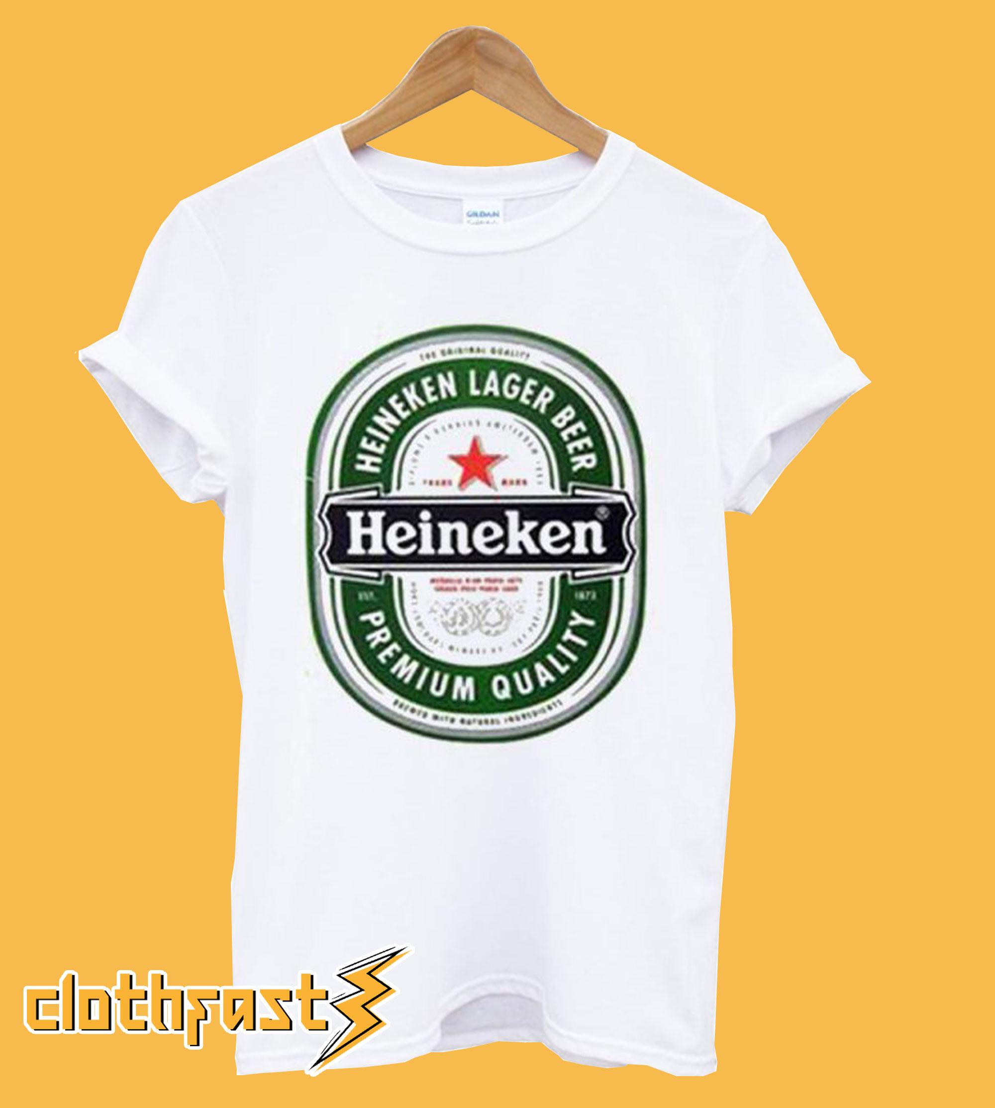 Heineken Lager Beer Heineken Premium Quality T shirt