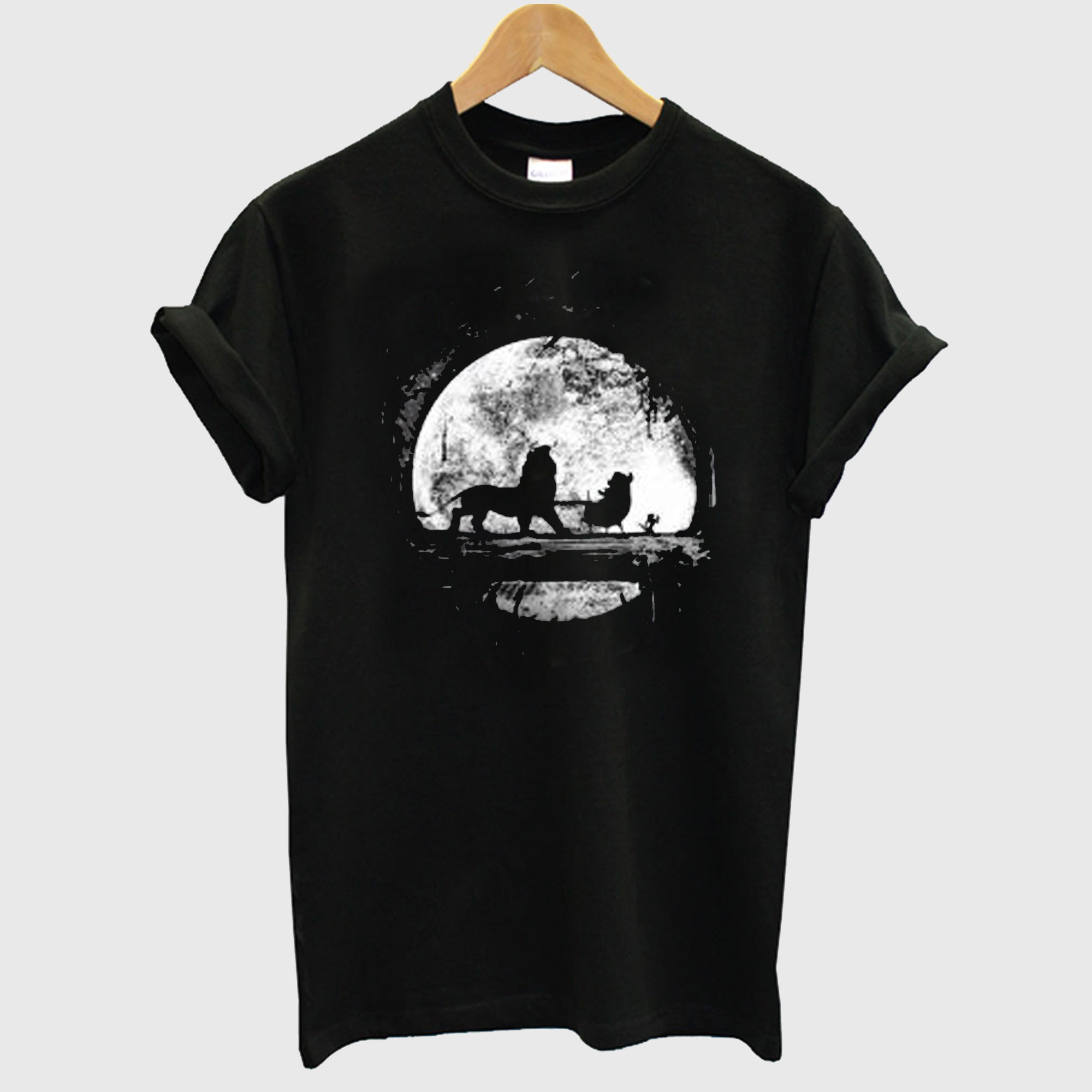Moonlight Black T Shirt
