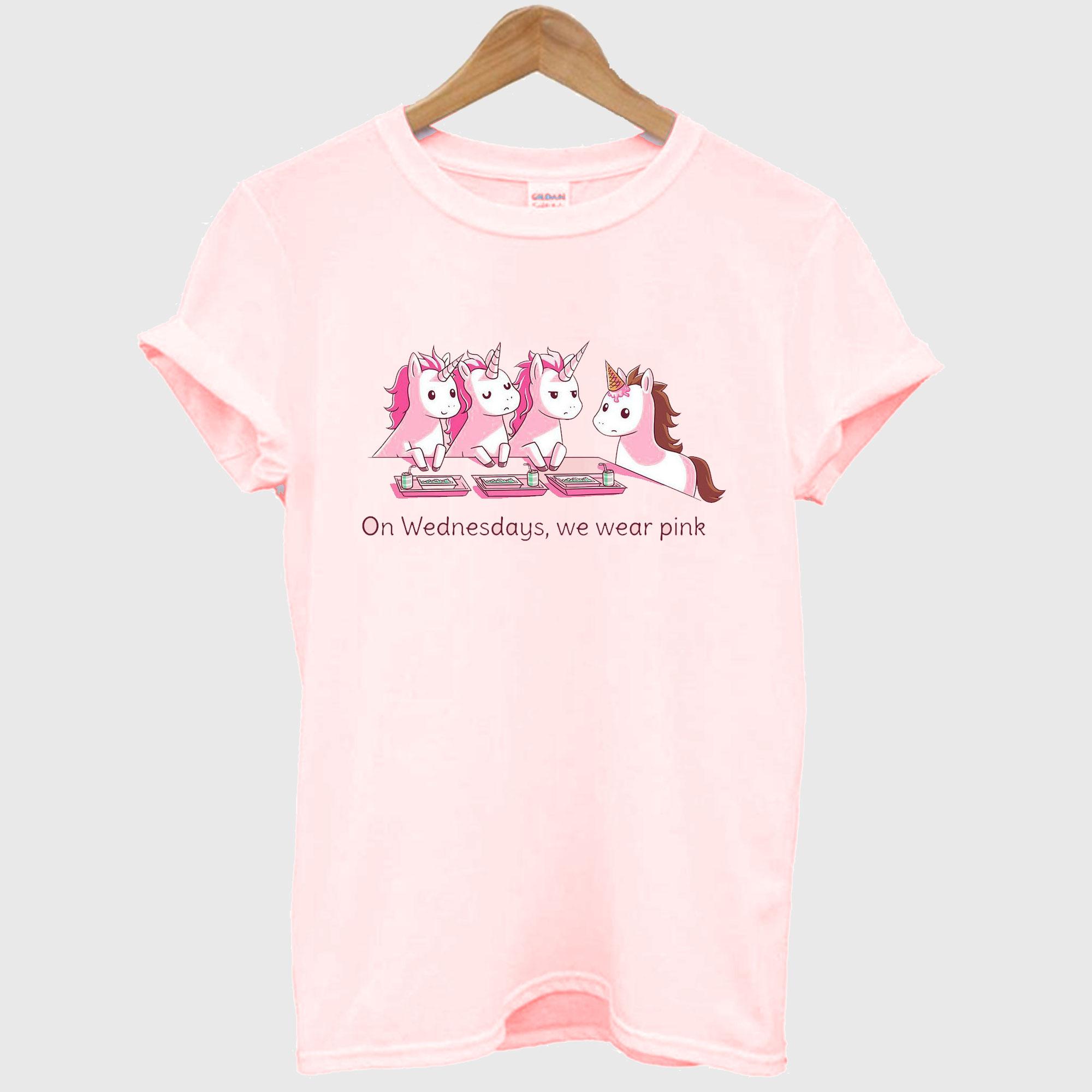 Unicorn On Wednesdays We Wear Pink T-Shirt