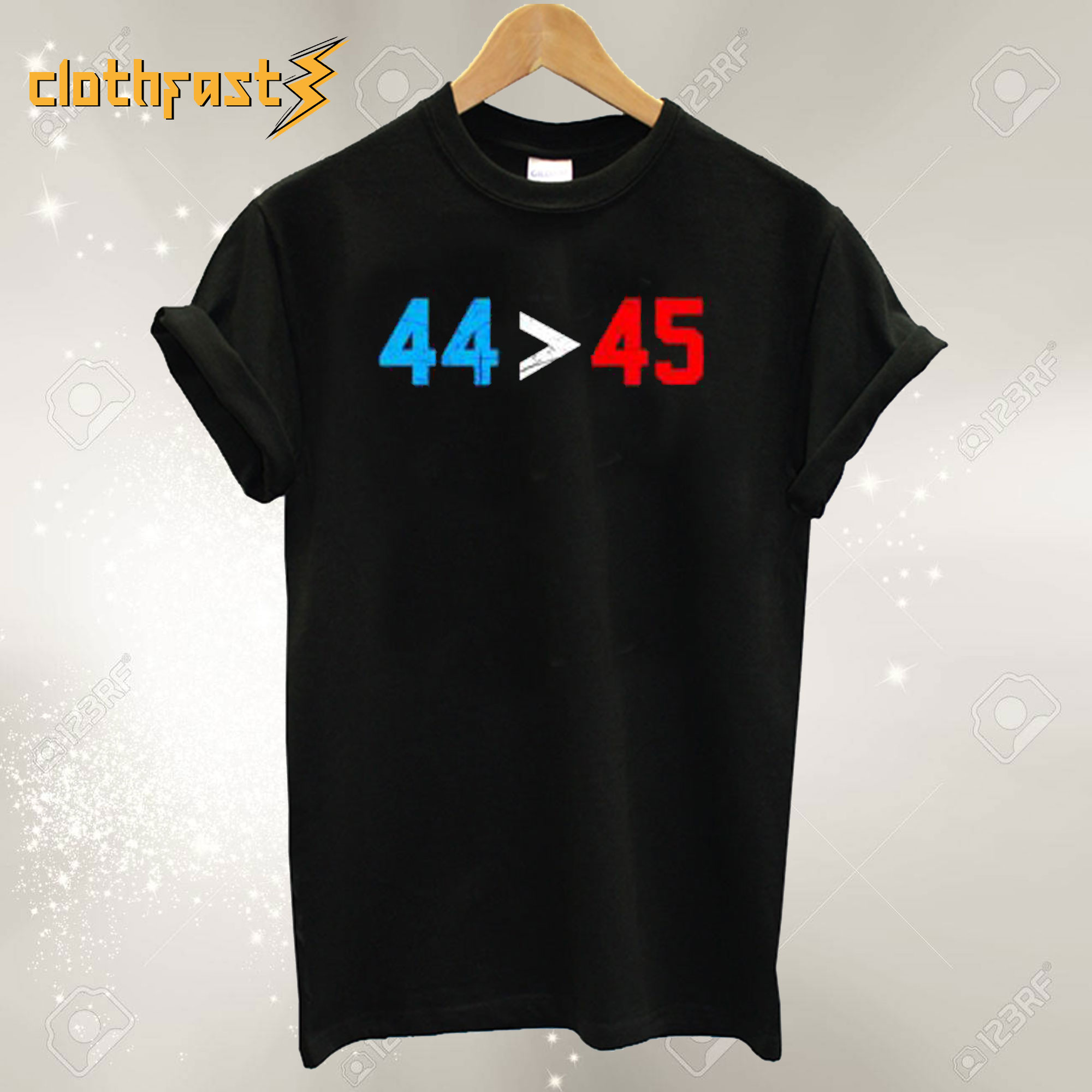 44 45 Obama Is Better Than Trump T shirt