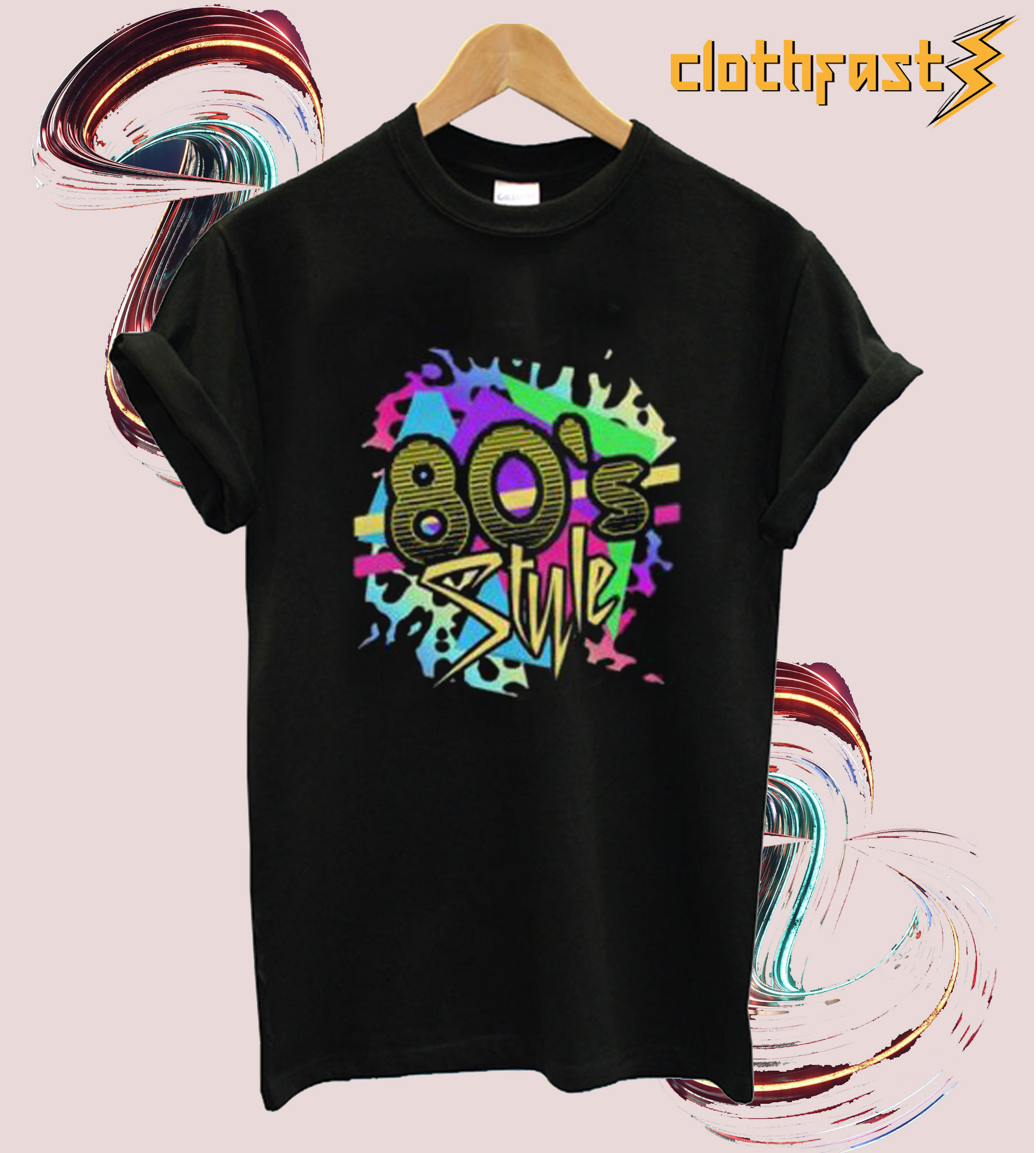 80's Style Colorful T Shirt