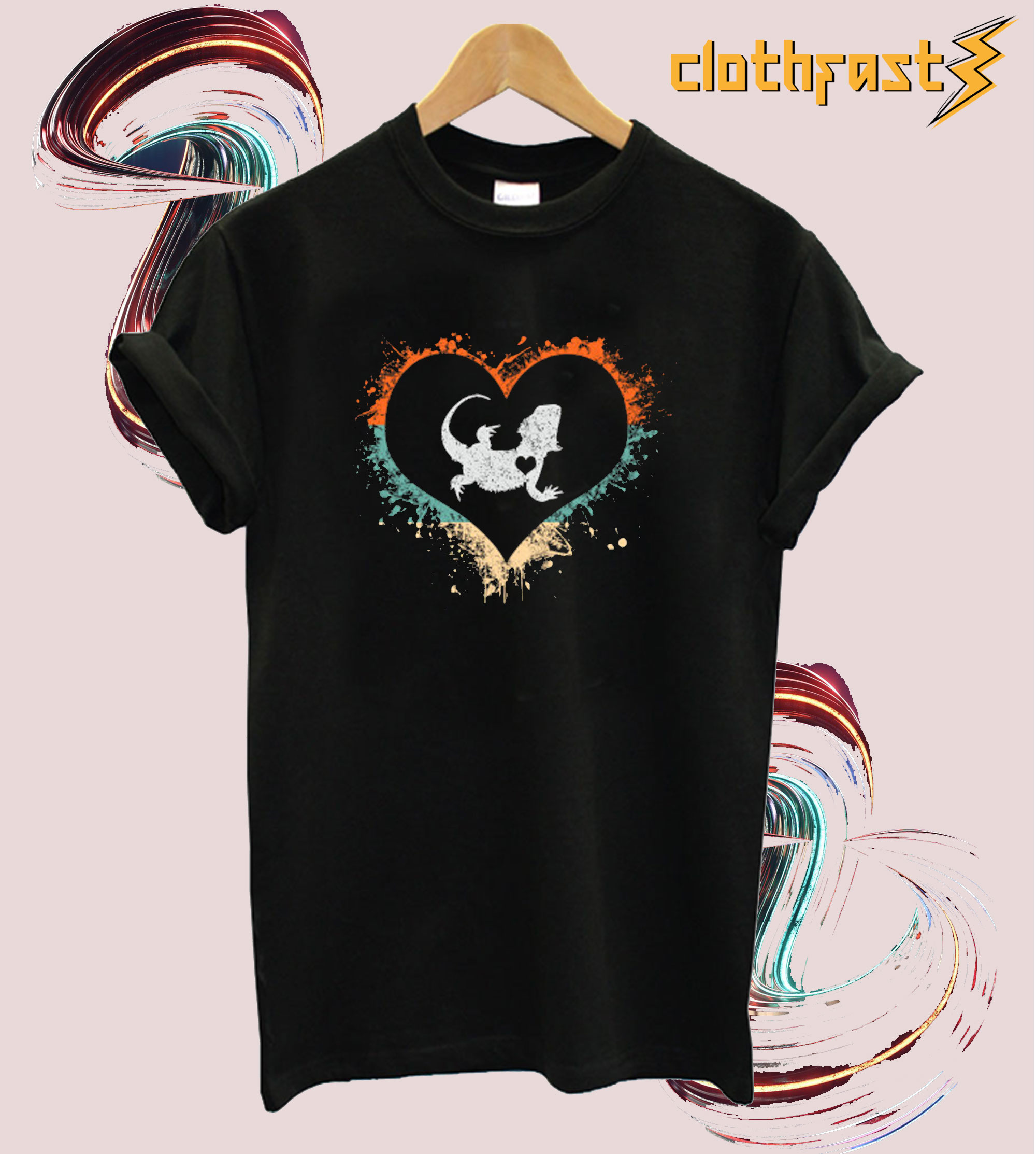 Bearded Dragon Retro Cute T-Shirt