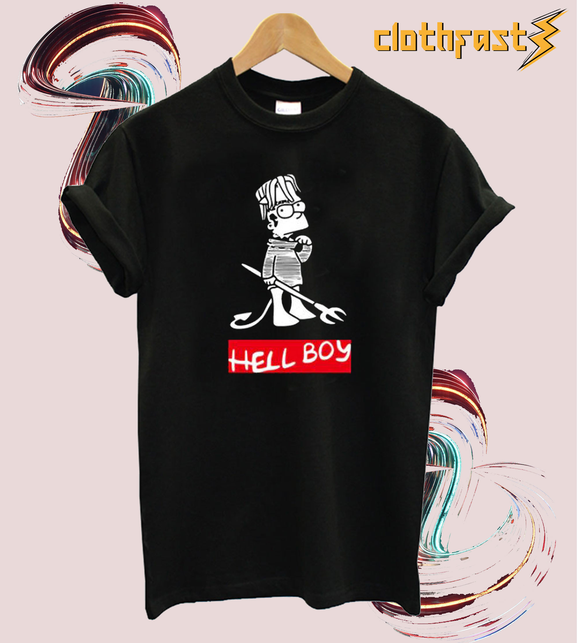 Hellboy Bart Simpson T shirt