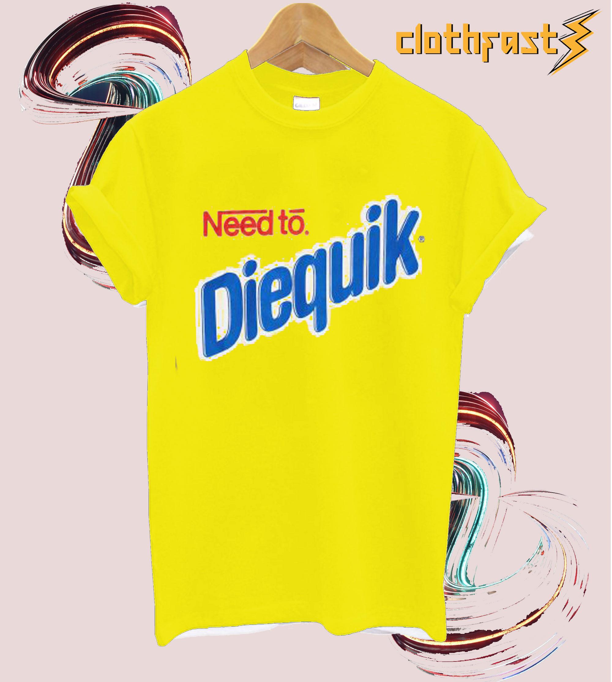 Need To Diequik Yellow T-shirt