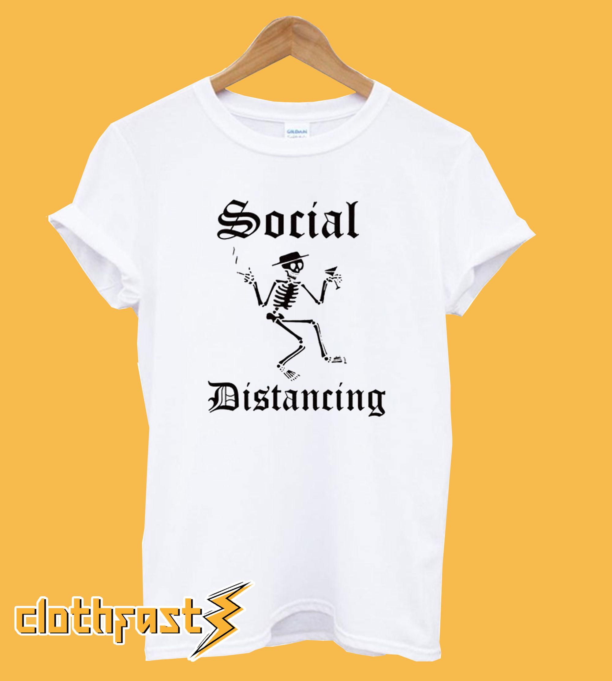 Social Distancing Parody Funny T-Shirt