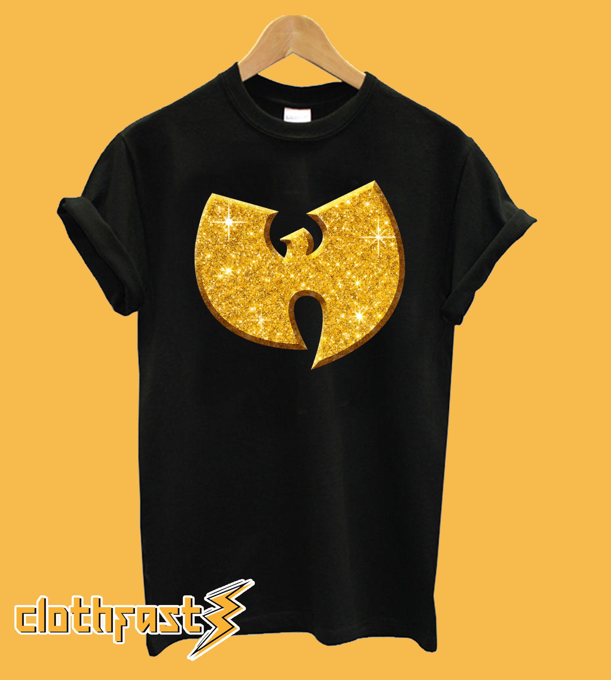 3D Wutang Gold Bling-Bling T-Shirt