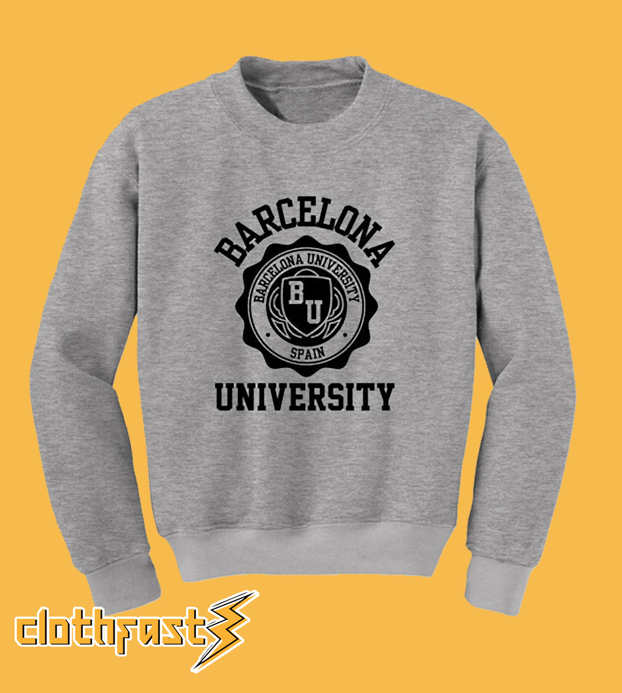 Barcelona University grey sweatshirt